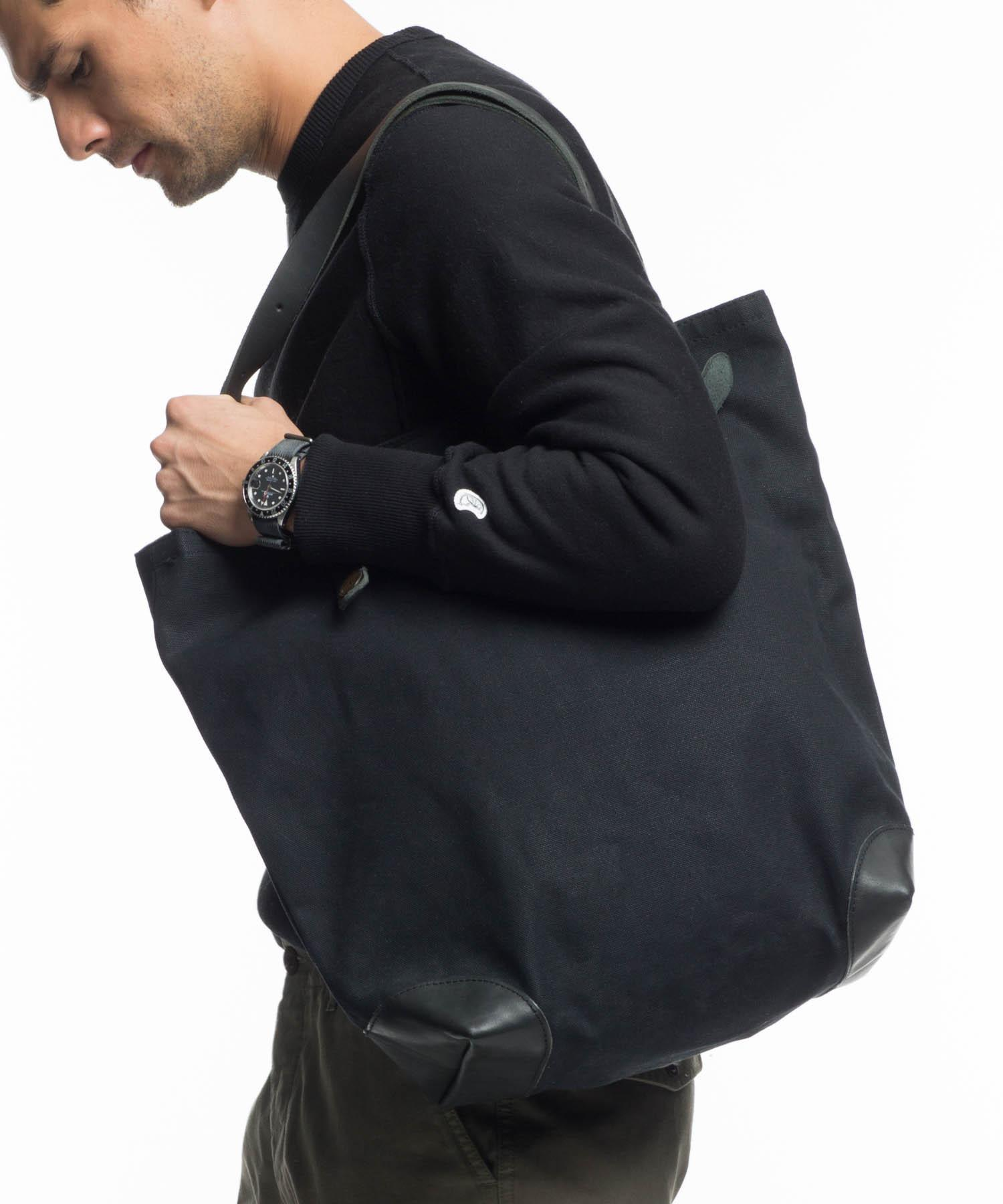 Todd Synder X Champion Superior Labor Black Canvas Tote Bag for Men