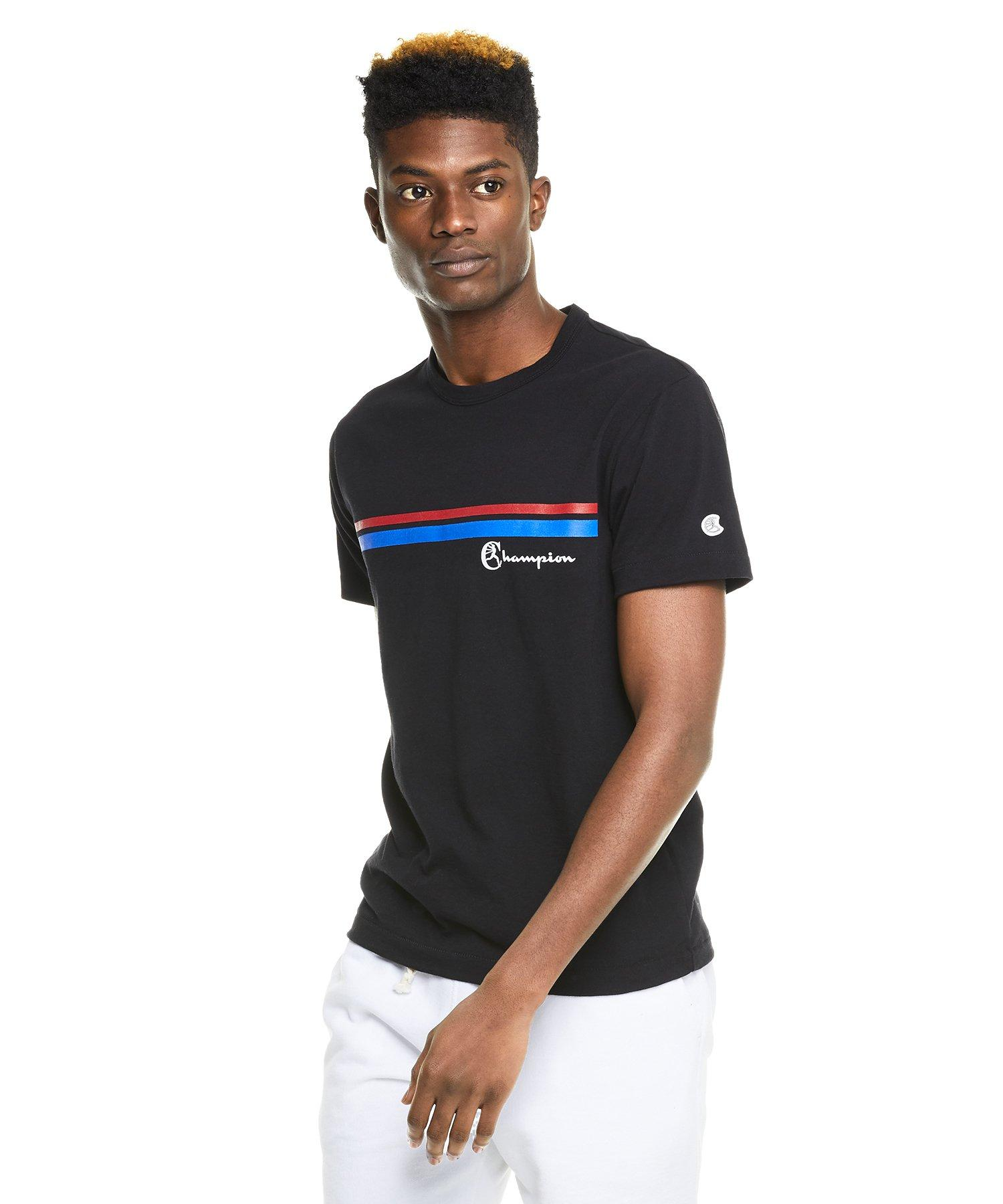 7cb4073f Todd Snyder Champion Double Stripe Graphic T-shirt In Black in Black for  Men - Lyst