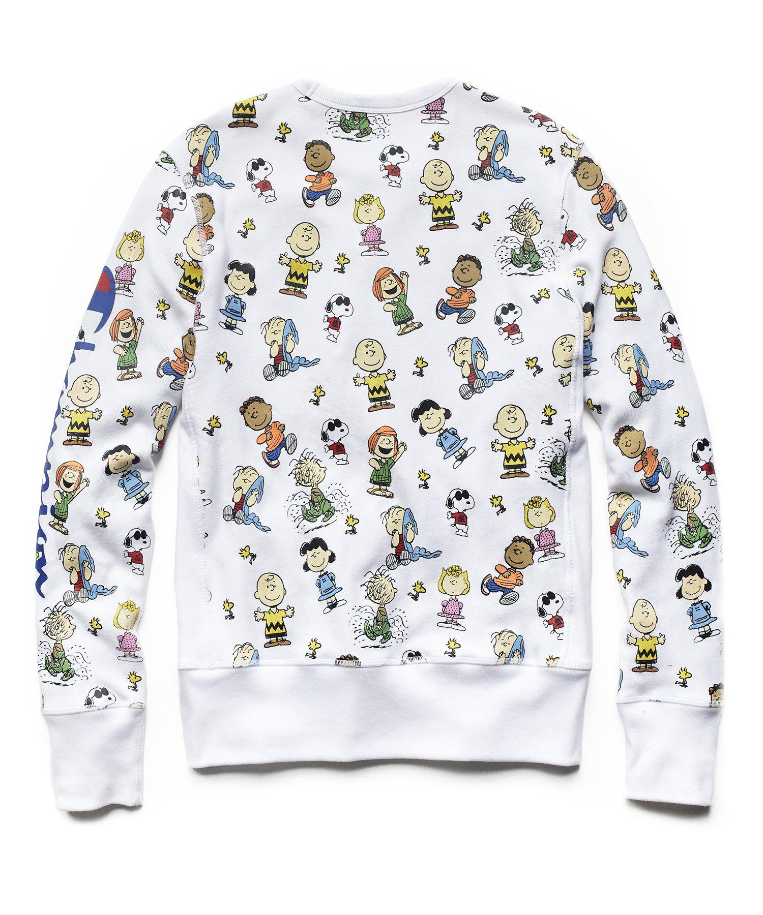 023aa299fd3c Todd Snyder + Champion X Peanuts 'Gang All Over' Men's Sweatshirt ...