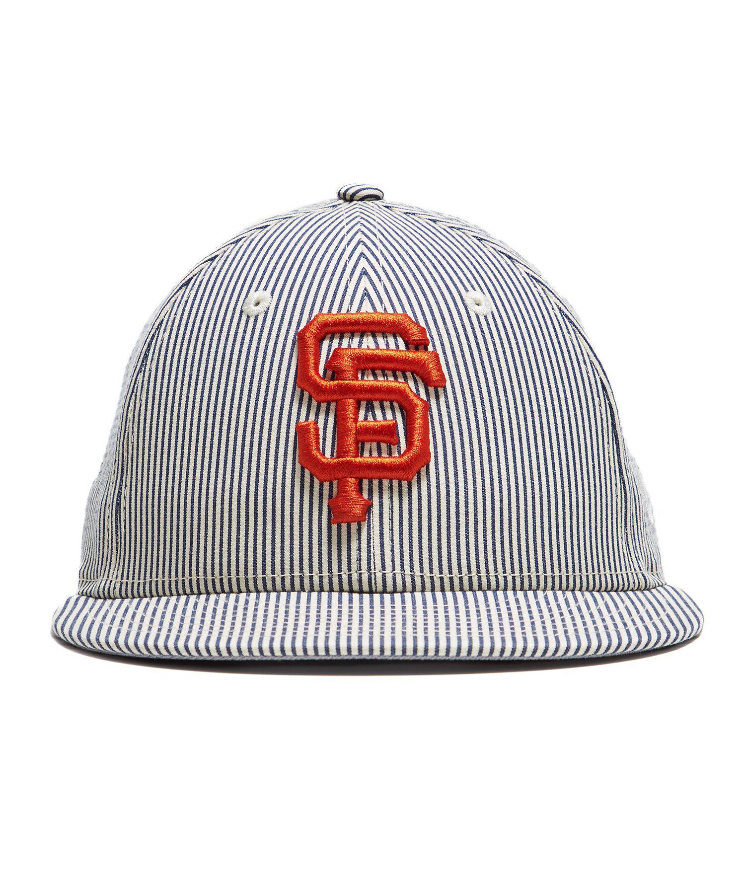 d7f7b3c1857 Lyst - New Era Hats San Francisco Giants Cap In Seersucker in Blue ...
