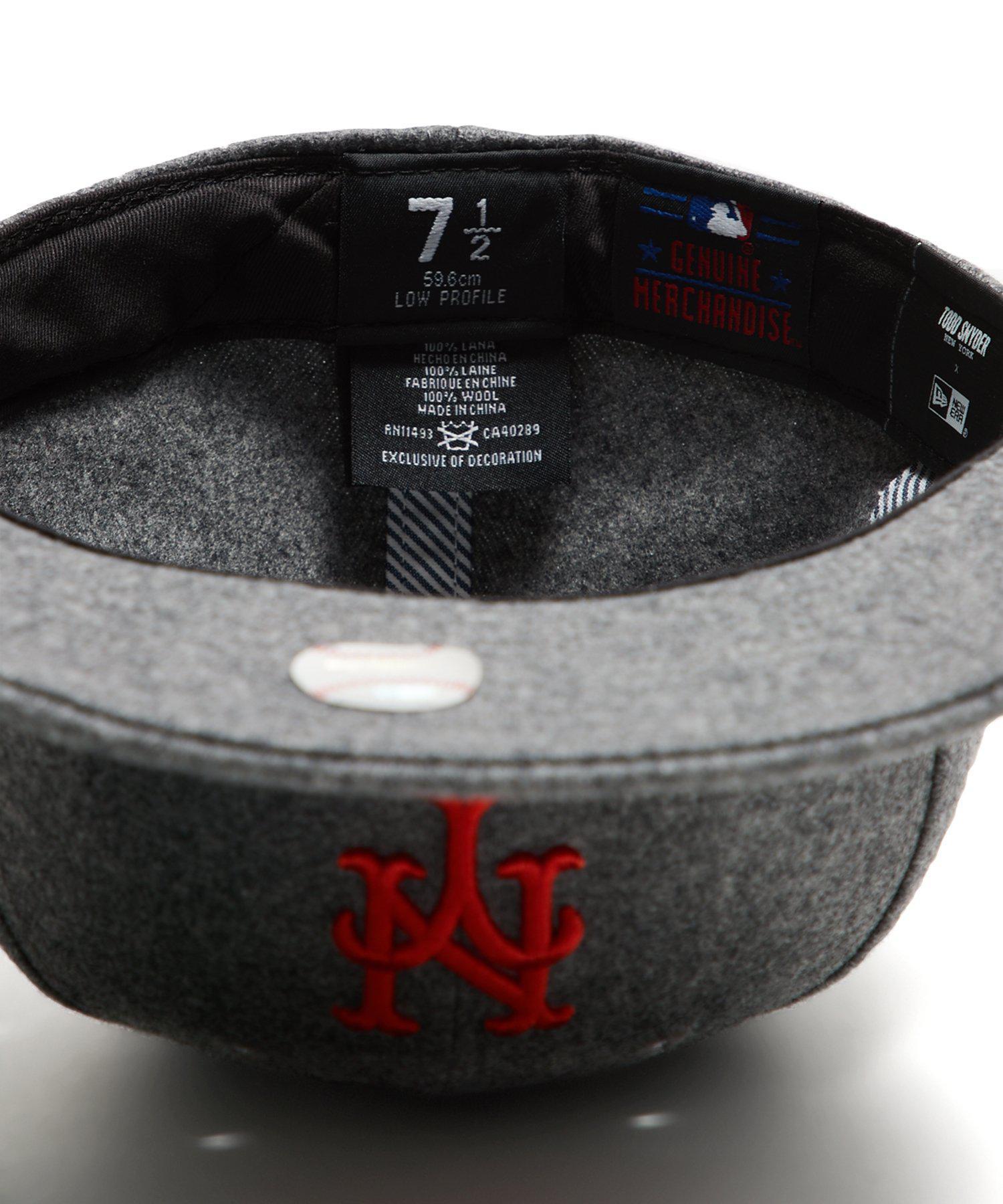 f2d45d43dee Lyst - NEW ERA HATS Exclusive Ny Mets Hat In Italian Barberis Wool Flannel  in Gray for Men
