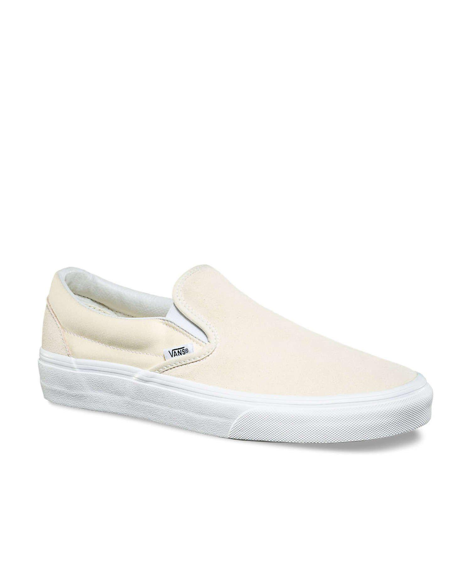 Vans Suede/canvas Classic Slip On In Afterglow In Cream