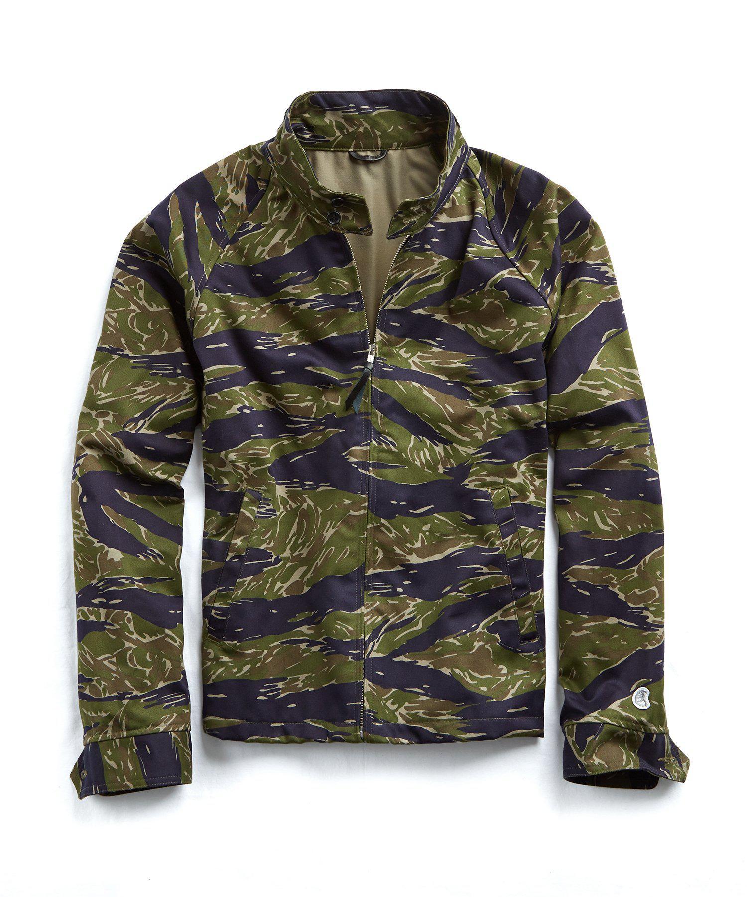 781d751051706 Todd Snyder Tiger Camo Harrington Jacket in Green for Men - Lyst