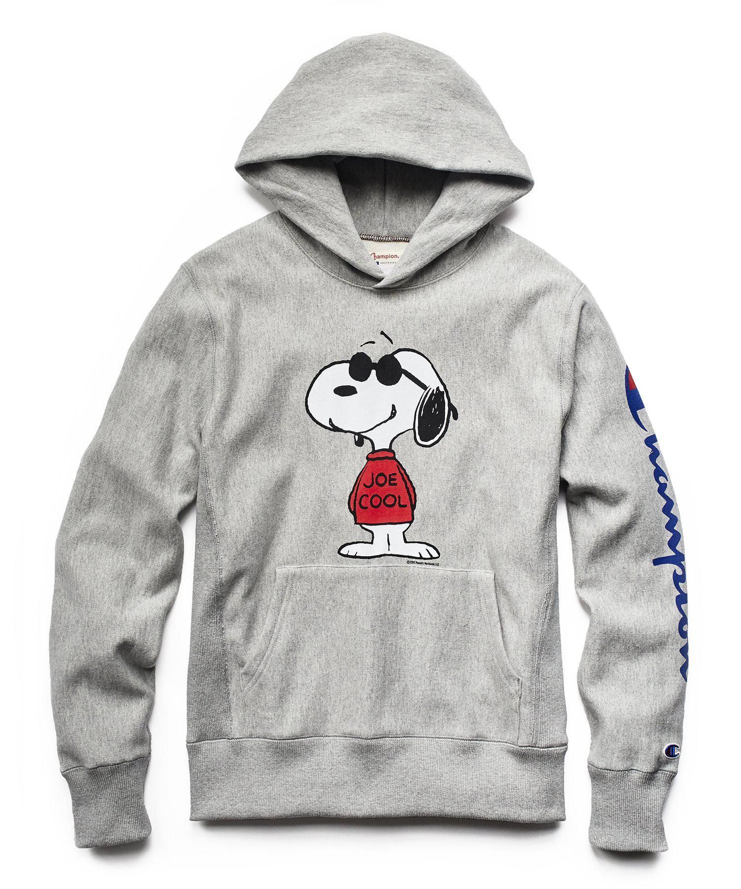 b10688b6a85b Todd Snyder Champion X Peanuts Joe Cool Hoodie In Light Grey Mix in ...
