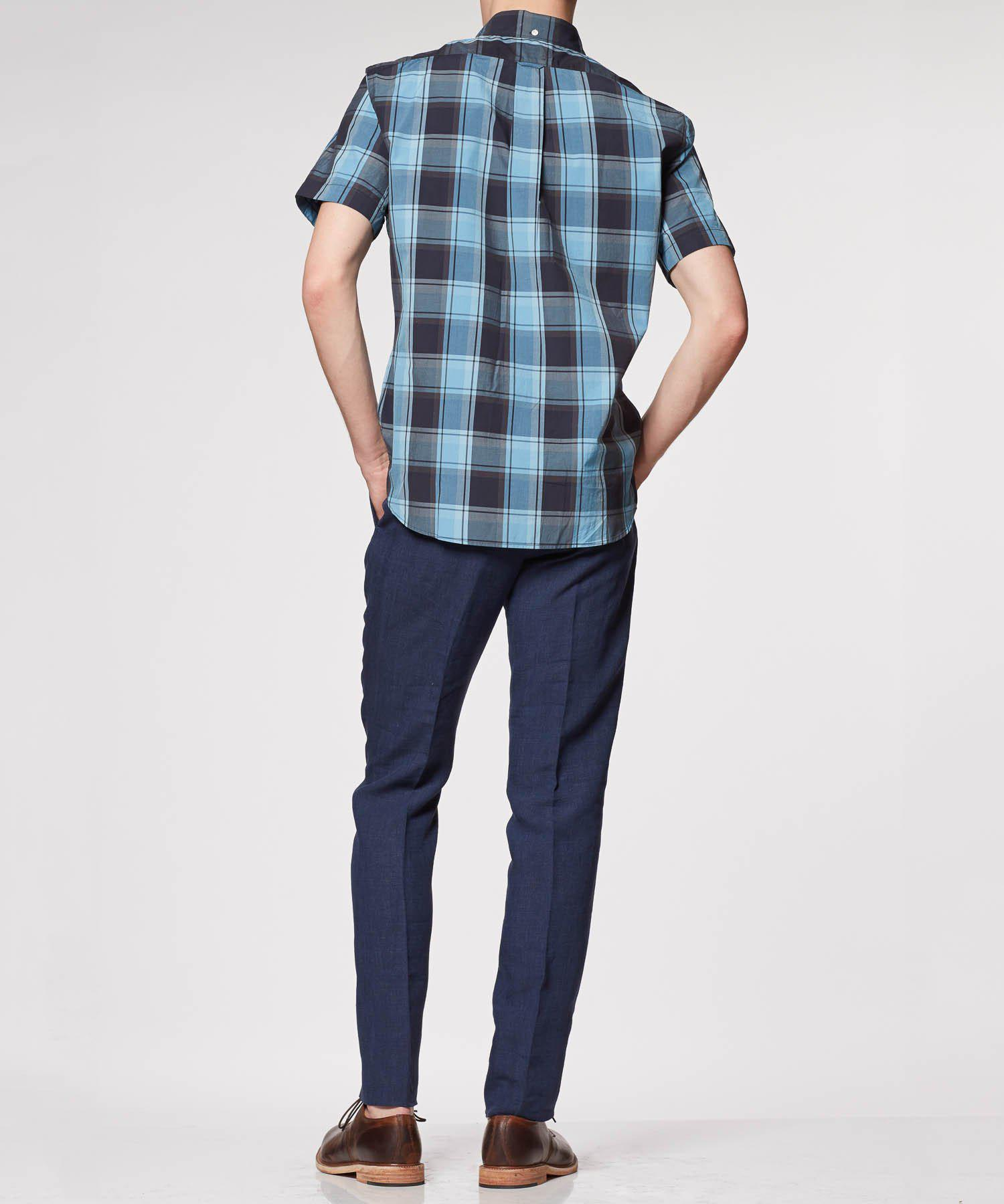 Lyst Todd Snyder Blue Plaid Short Sleeve Shirt In Blue
