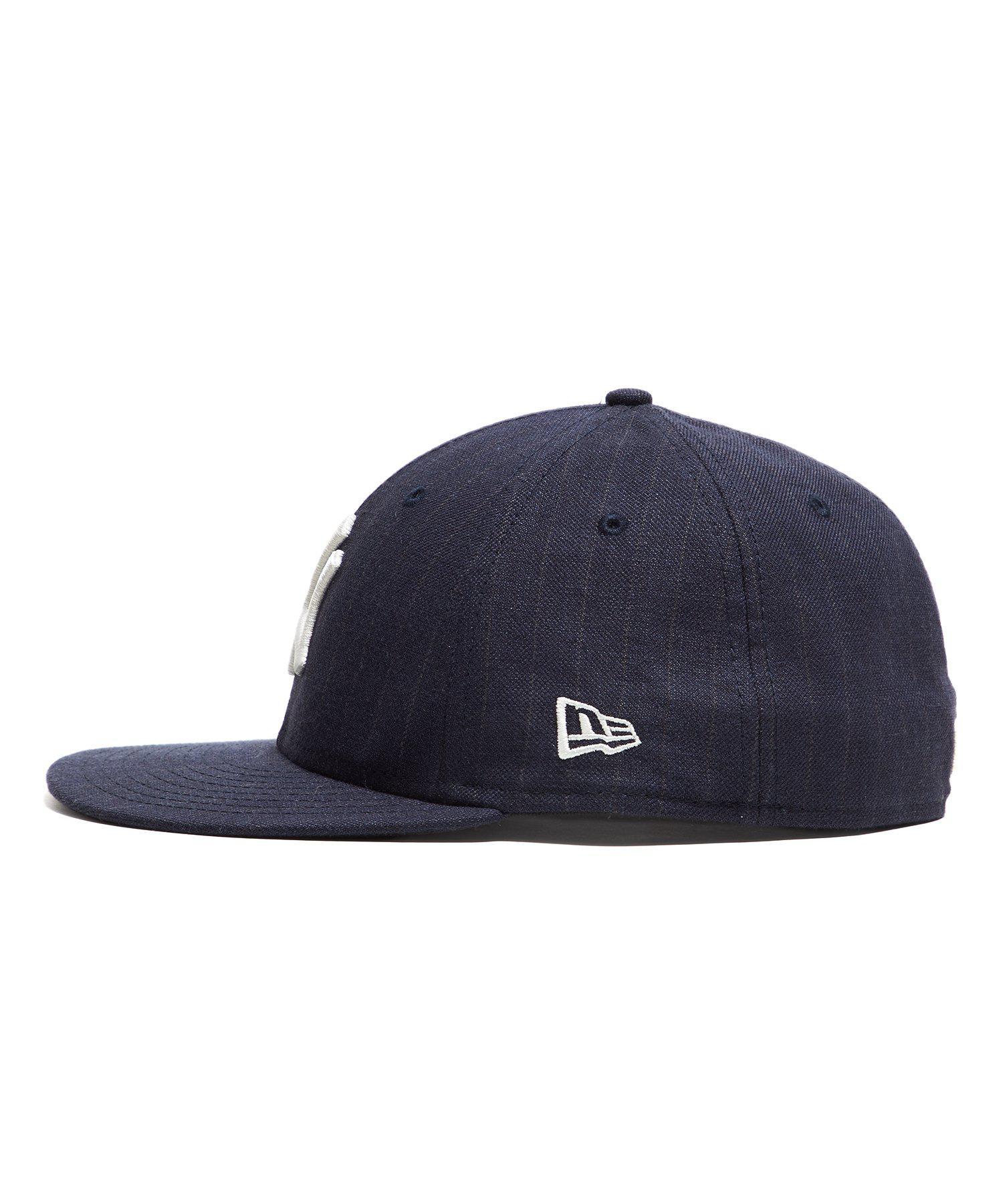 b1f798fa202 NEW ERA HATS New York Yankees Cap In Navy Pinstripe in Blue for Men - Lyst