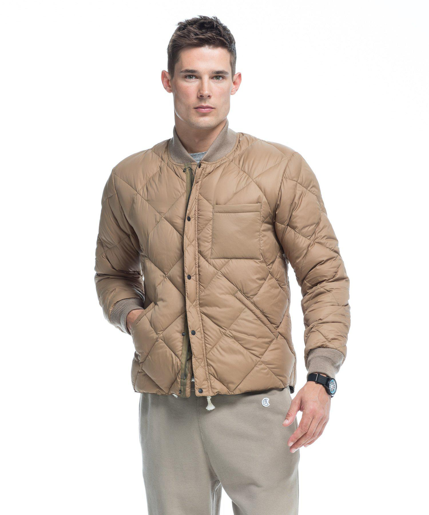 Todd Synder X Champion Synthetic Liner Down Jacket In Camel in Beige (Natural) for Men