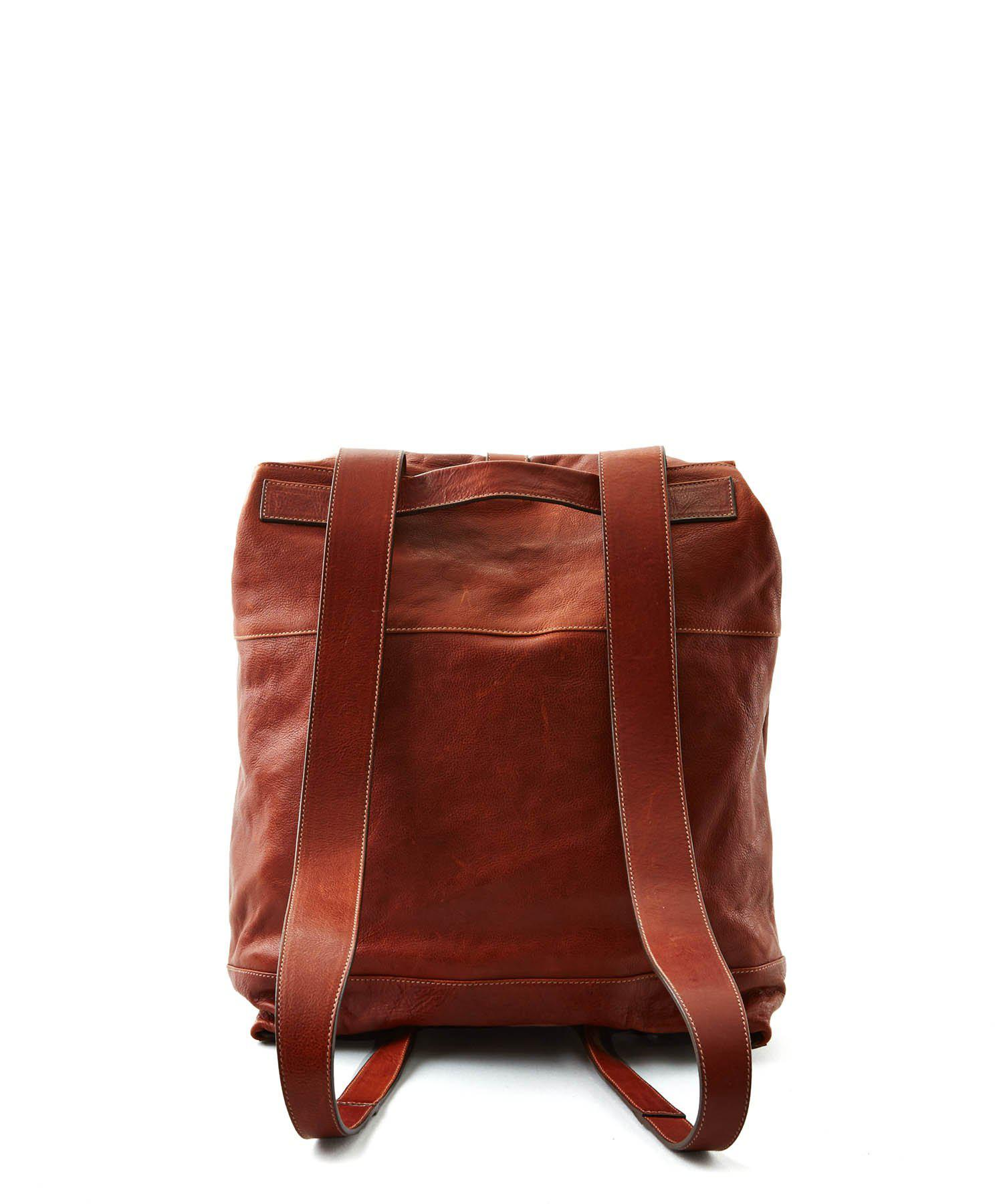 Todd Synder X Champion Leather Il Bisonte Cowhide Backpack in Brown