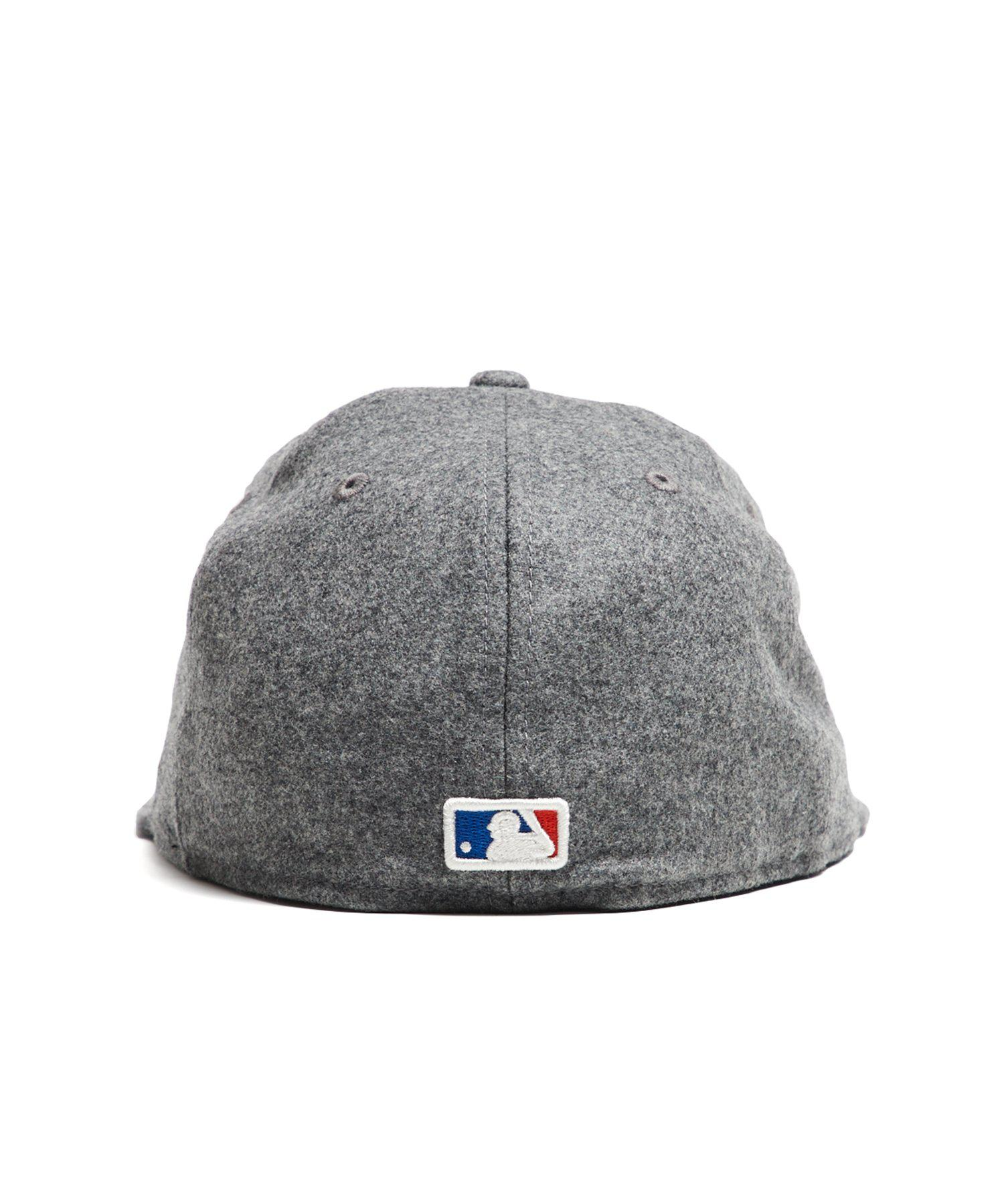 NEW ERA HATS - Gray Exclusive Ny Mets Hat In Italian Barberis Wool Flannel  for Men. View fullscreen 56a55a6e6325