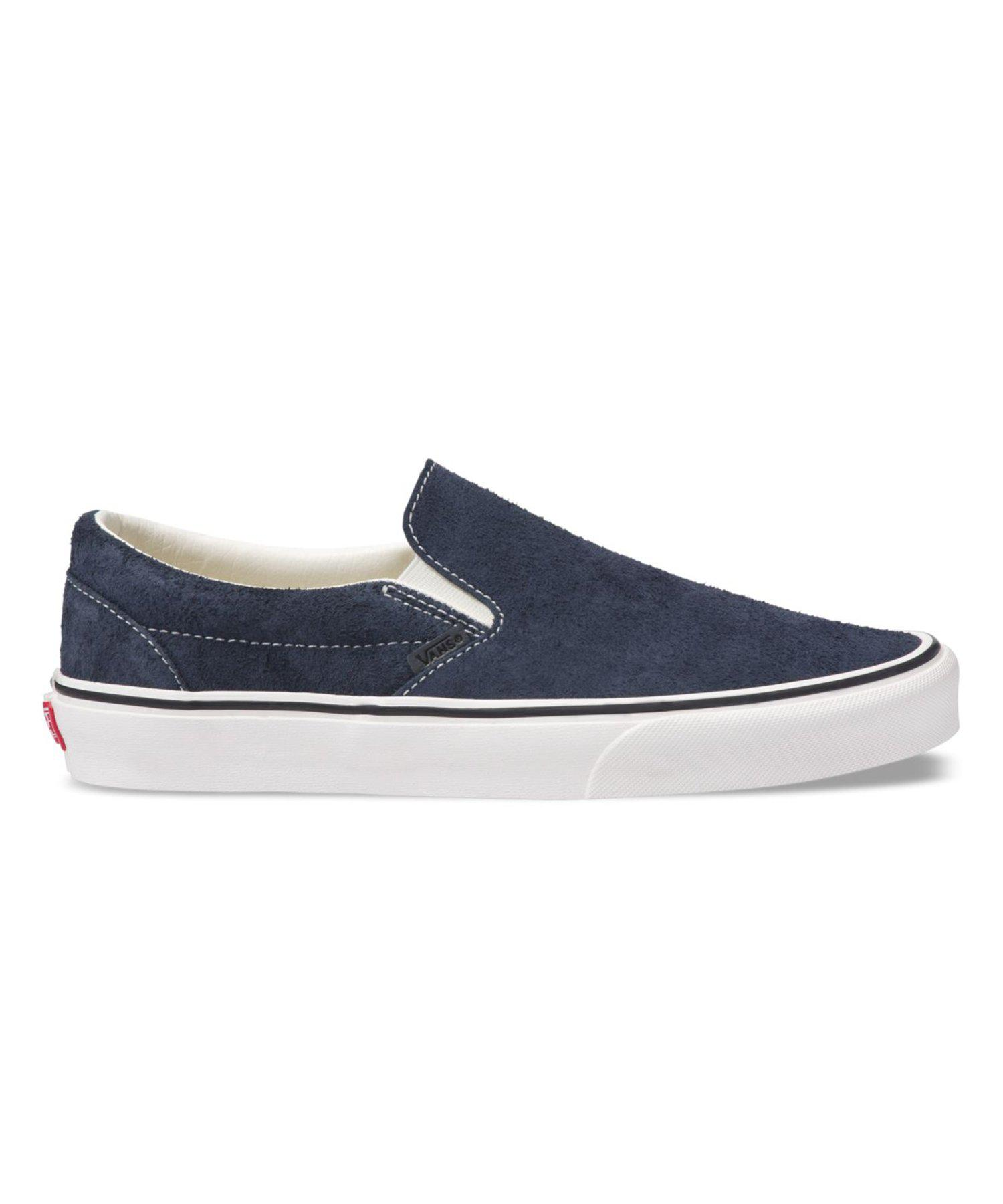 82e64da6ef6f Lyst - Vans Classic Slip-on In Blue Hairy Suede in Blue for Men