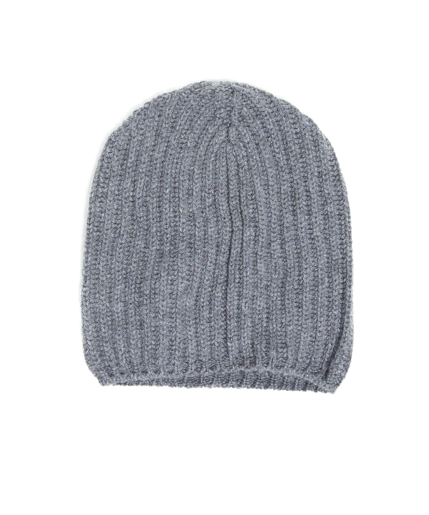 a32226ce2e8 Lyst - Drake s Cashmere Ribbed Hat In Grey in Gray for Men
