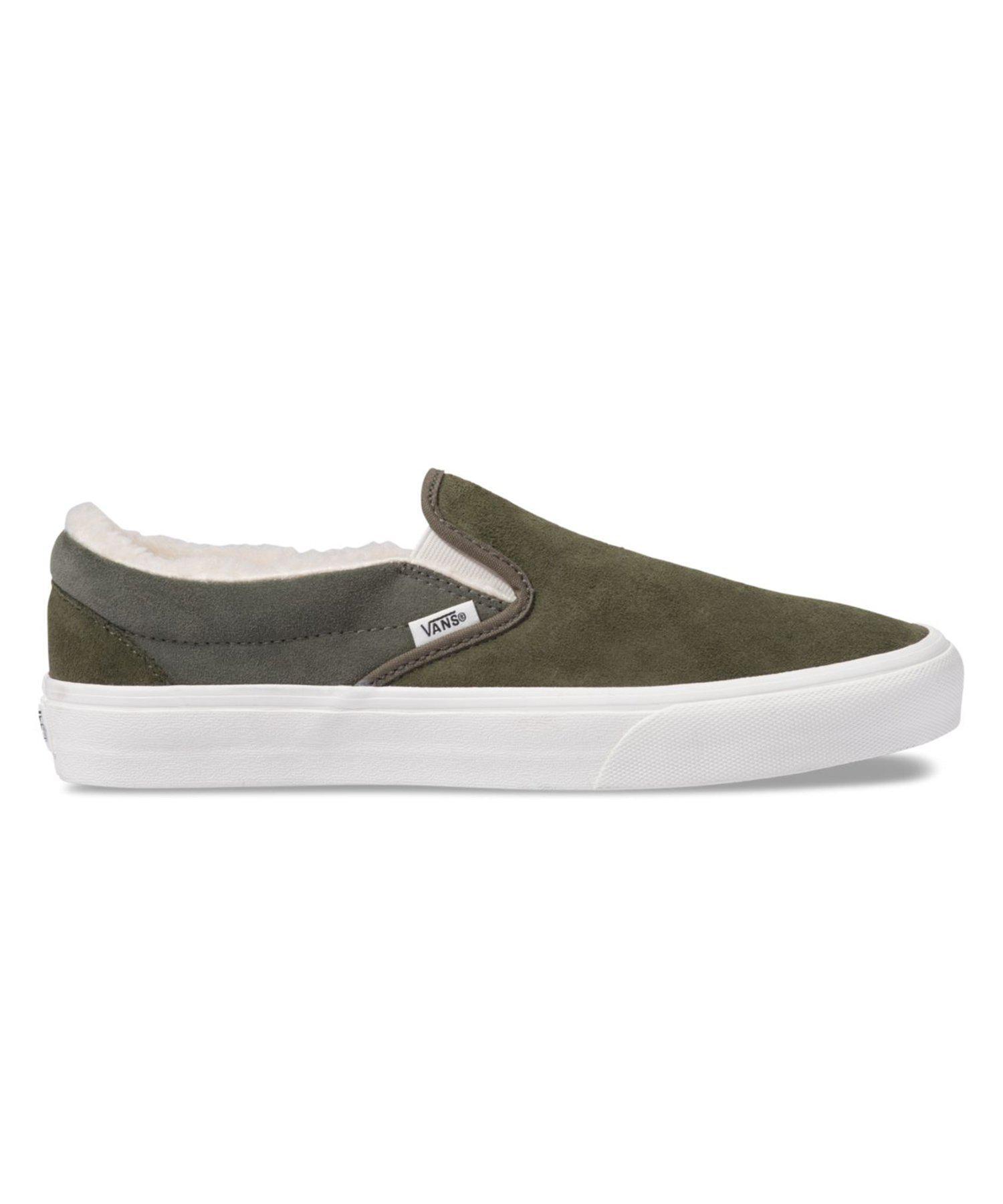 Vans Rubber Og Classic Slip-on in Olive