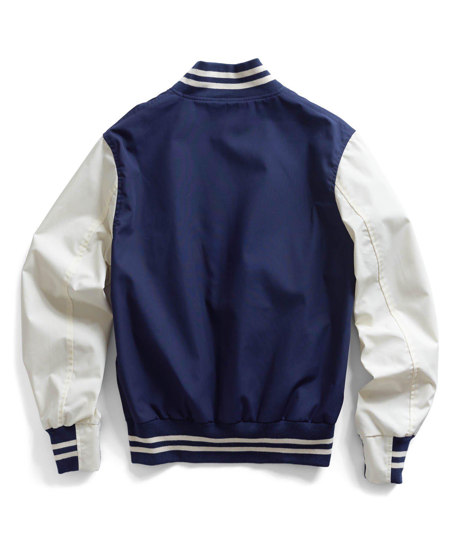 Todd Synder X Champion Navy Varsity Jacket in Blue for Men