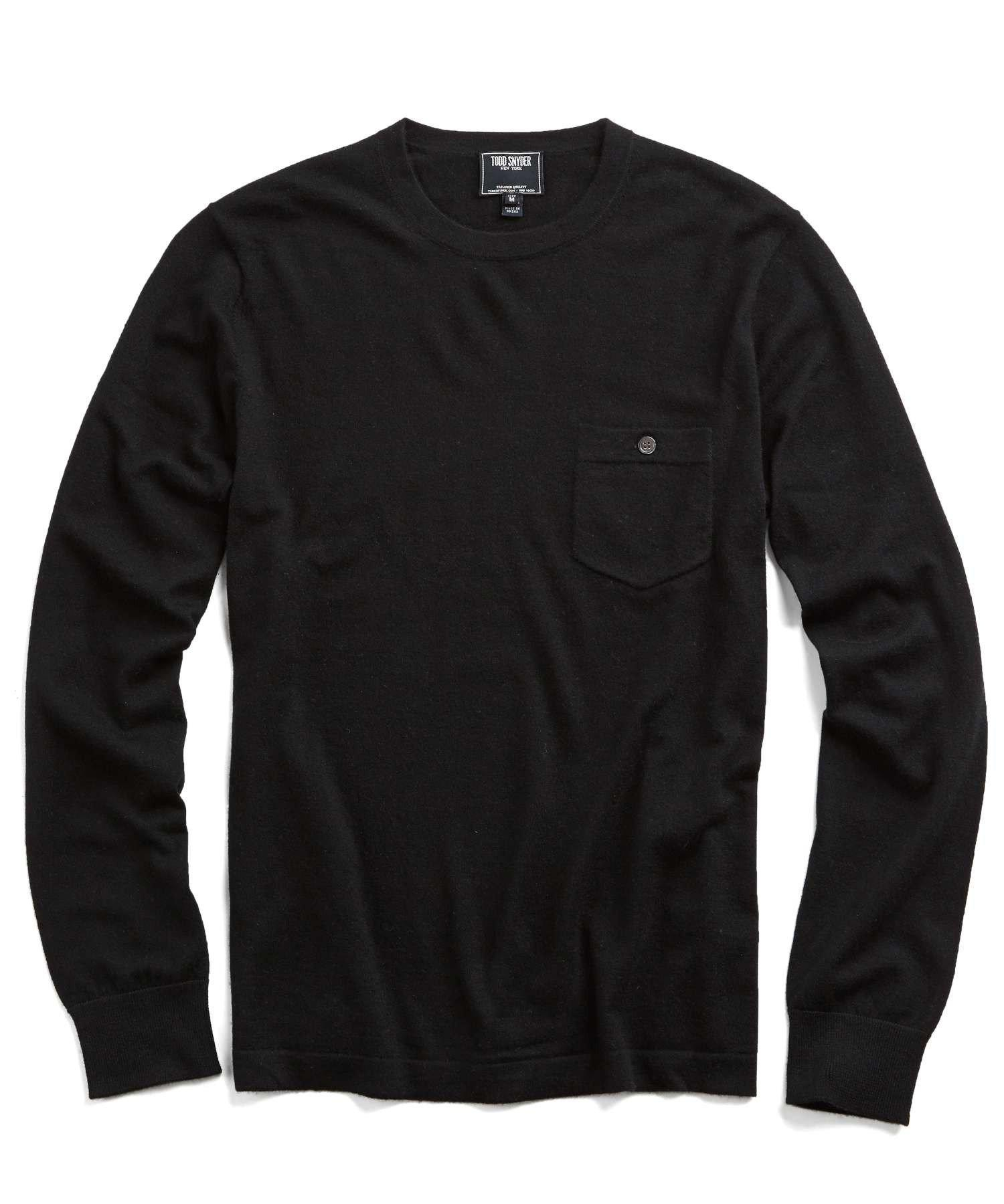 225383e3587bc5 Todd Snyder - Cashmere T-shirt Sweater In Black for Men - Lyst. View  fullscreen