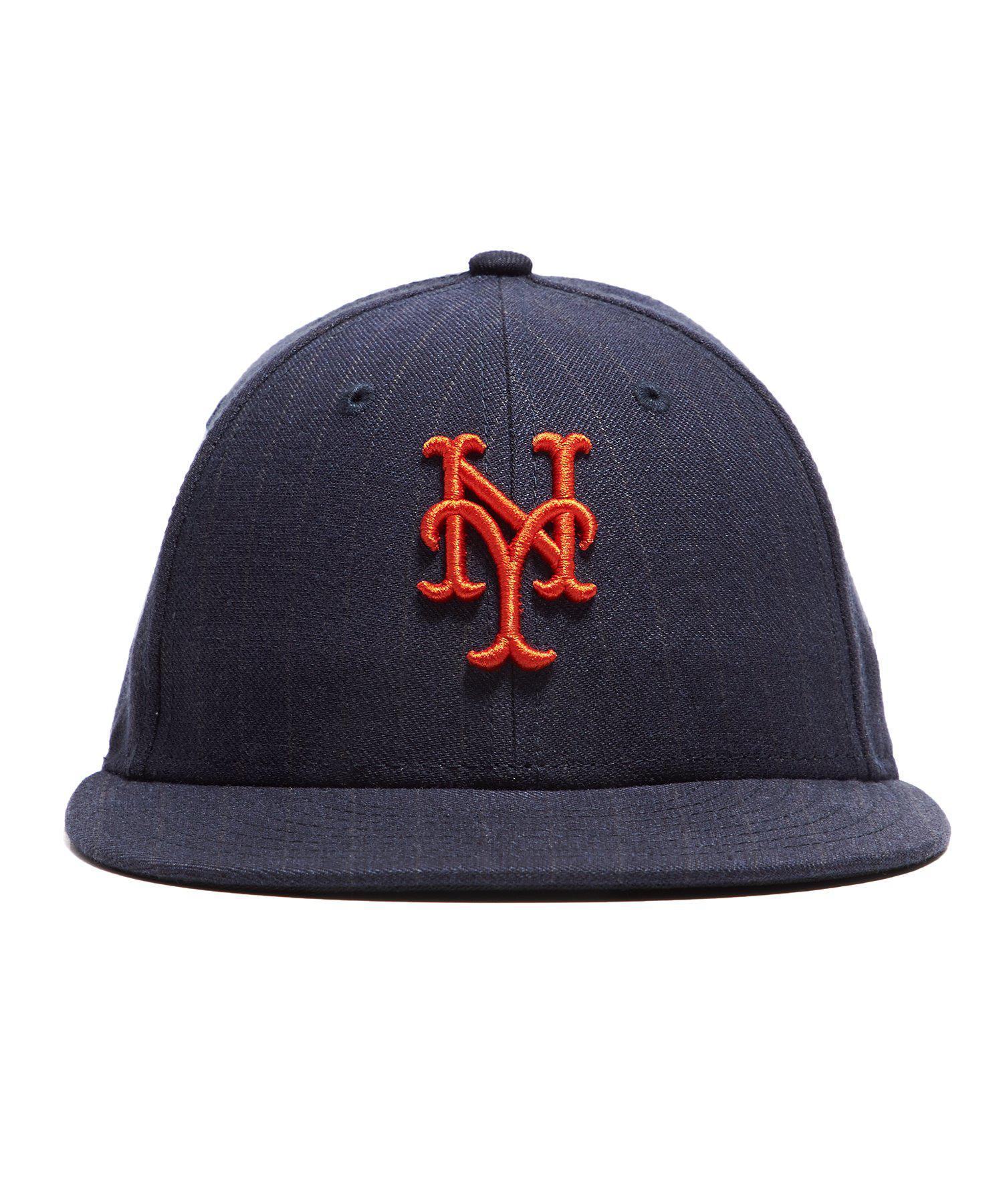 2bd752b35d5 Lyst - NEW ERA HATS New York Mets Cap In Navy Pinstripe in Blue for Men