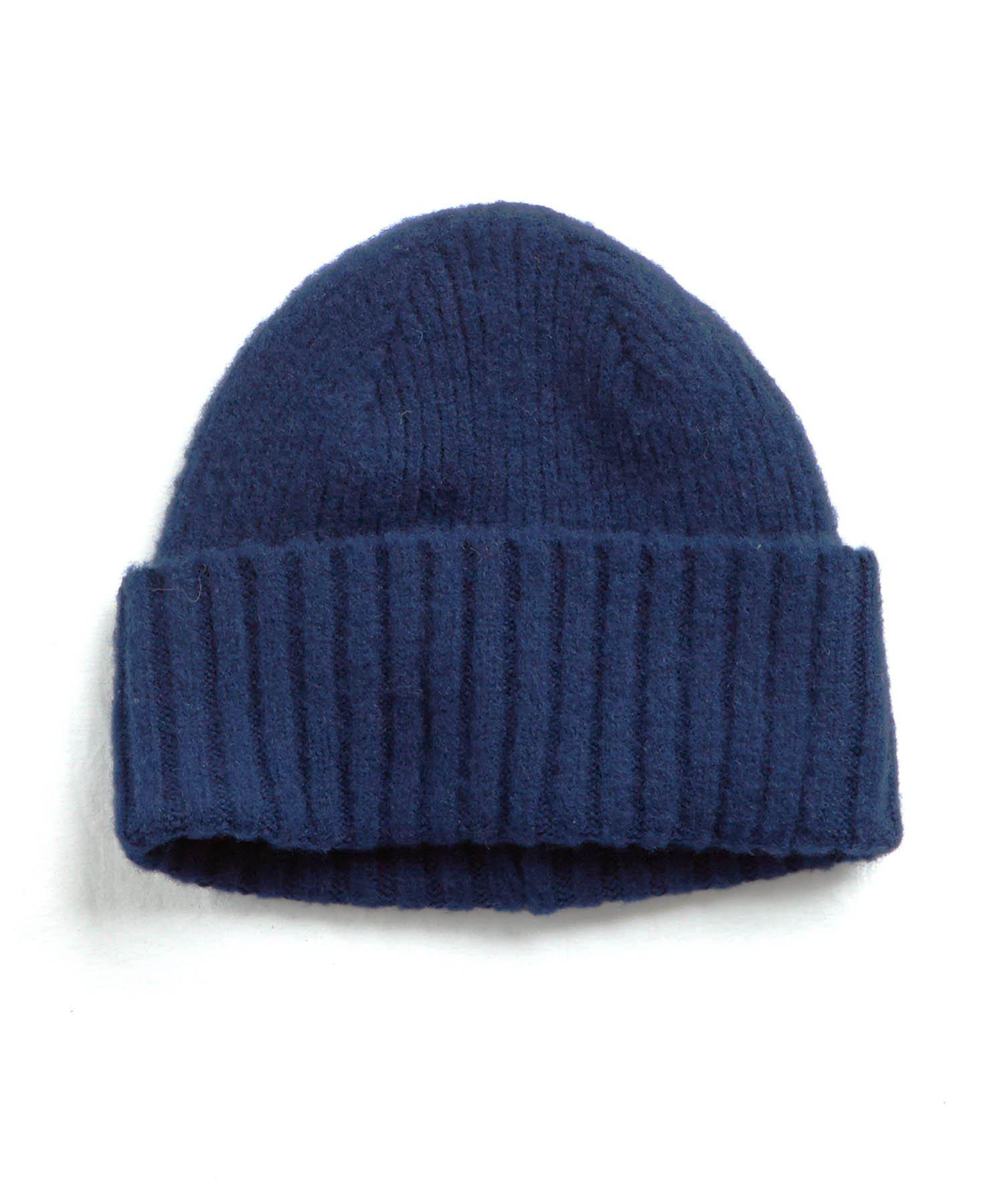Drake s Brushed Lambswool Ribbed Hat in Blue for Men - Lyst 21674ce2ec4b
