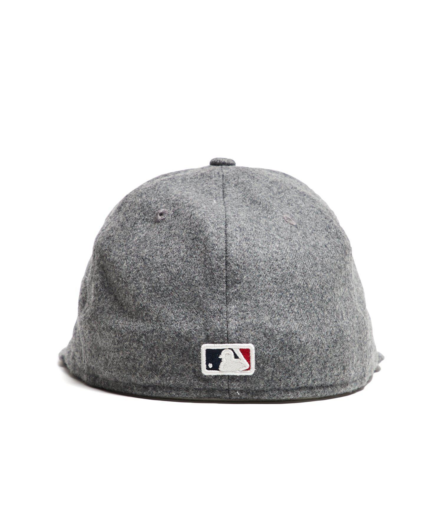 3ec23eee2d6 NEW ERA HATS - Gray Exclusive Boston Red Sox Hat In Italian Barberis Wool  Flannel for. View fullscreen