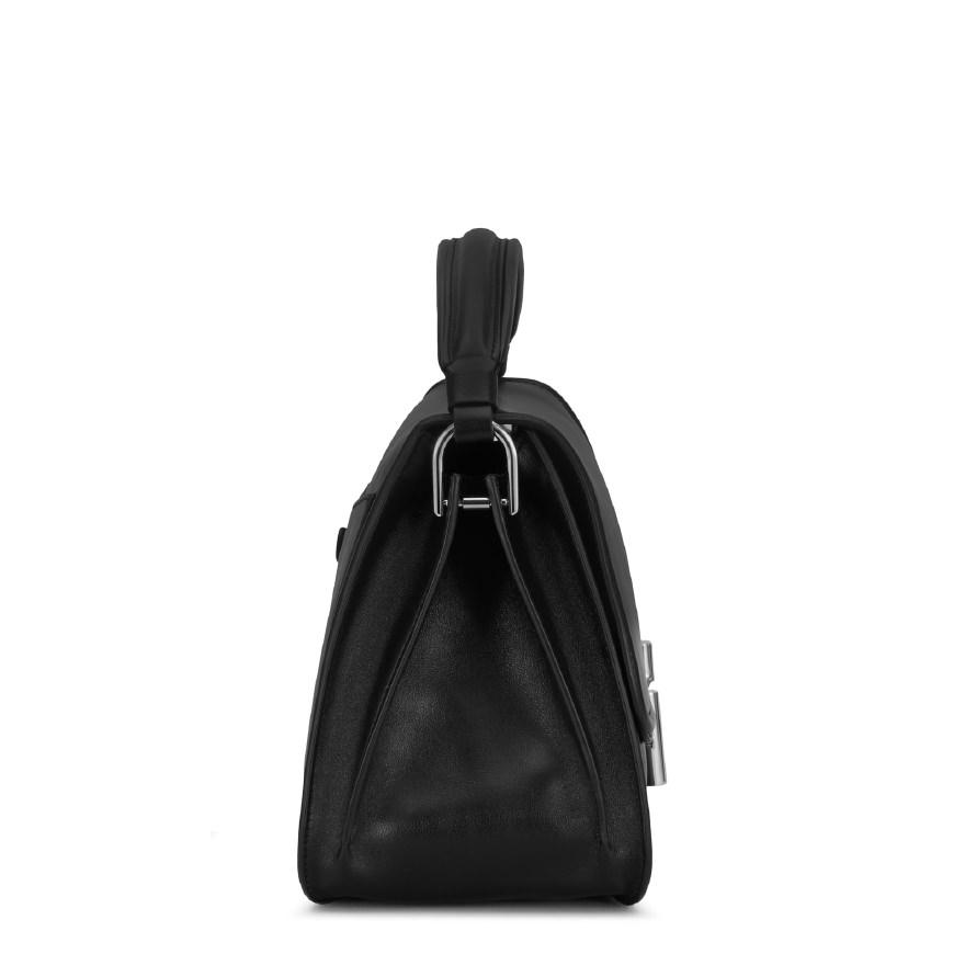 Tod's Leather Double T Small Crossbody Bag in Black
