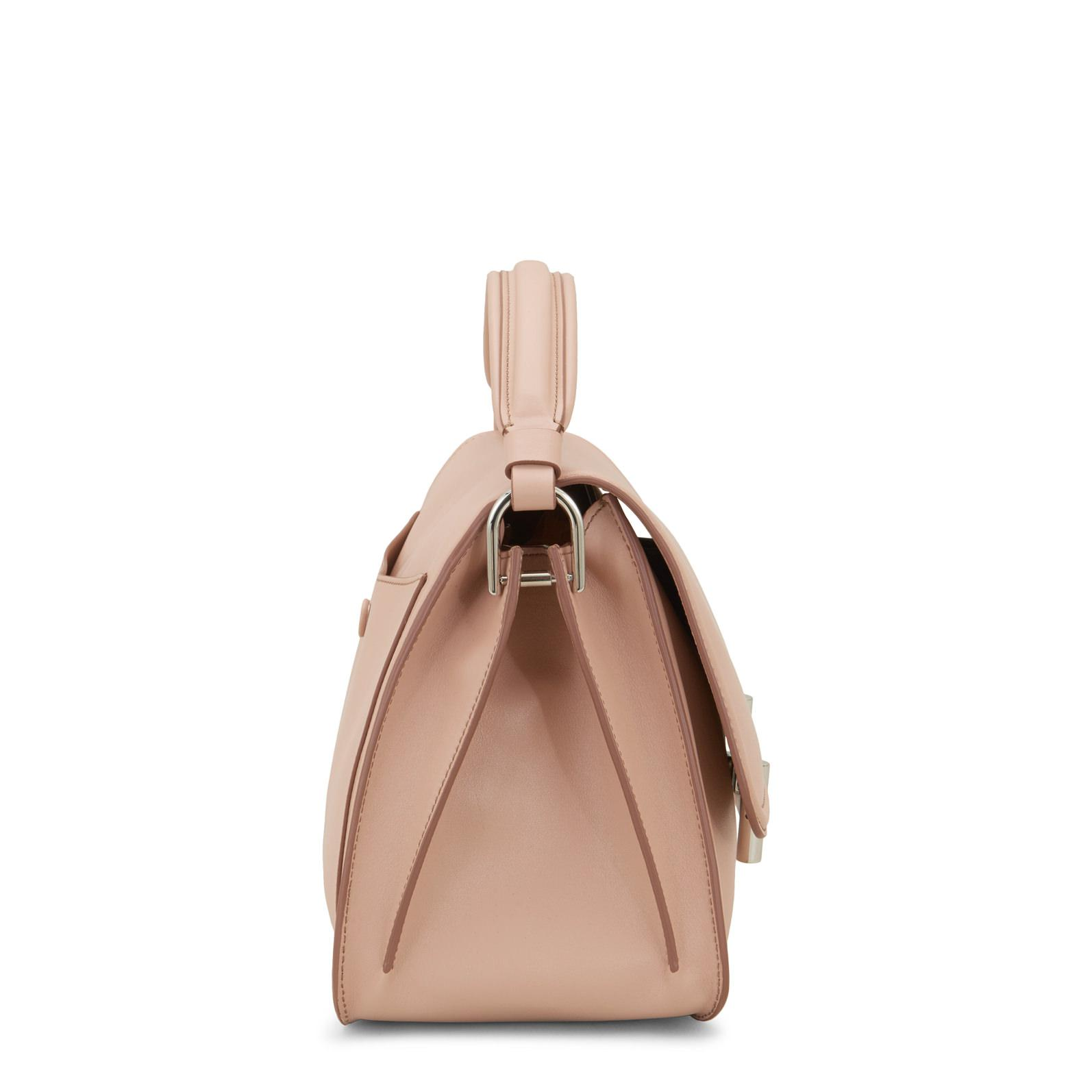 Tod's Leather Double T Small Crossbody Bag in Beige (Natural)