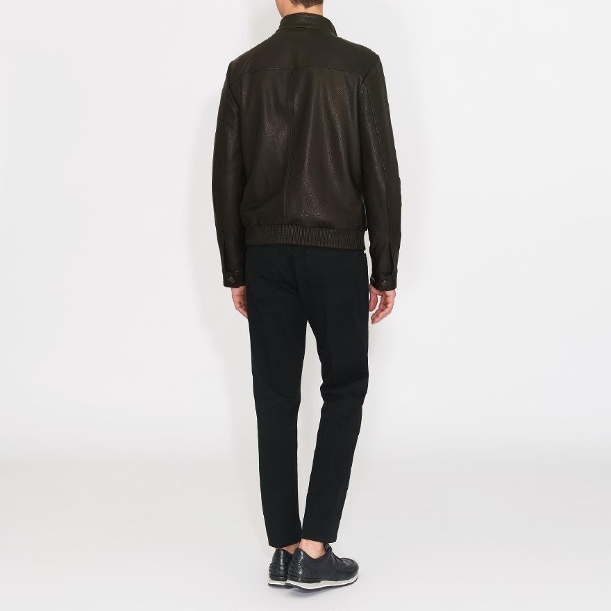 Tod's Bomber Jacket In Leather in Brown for Men