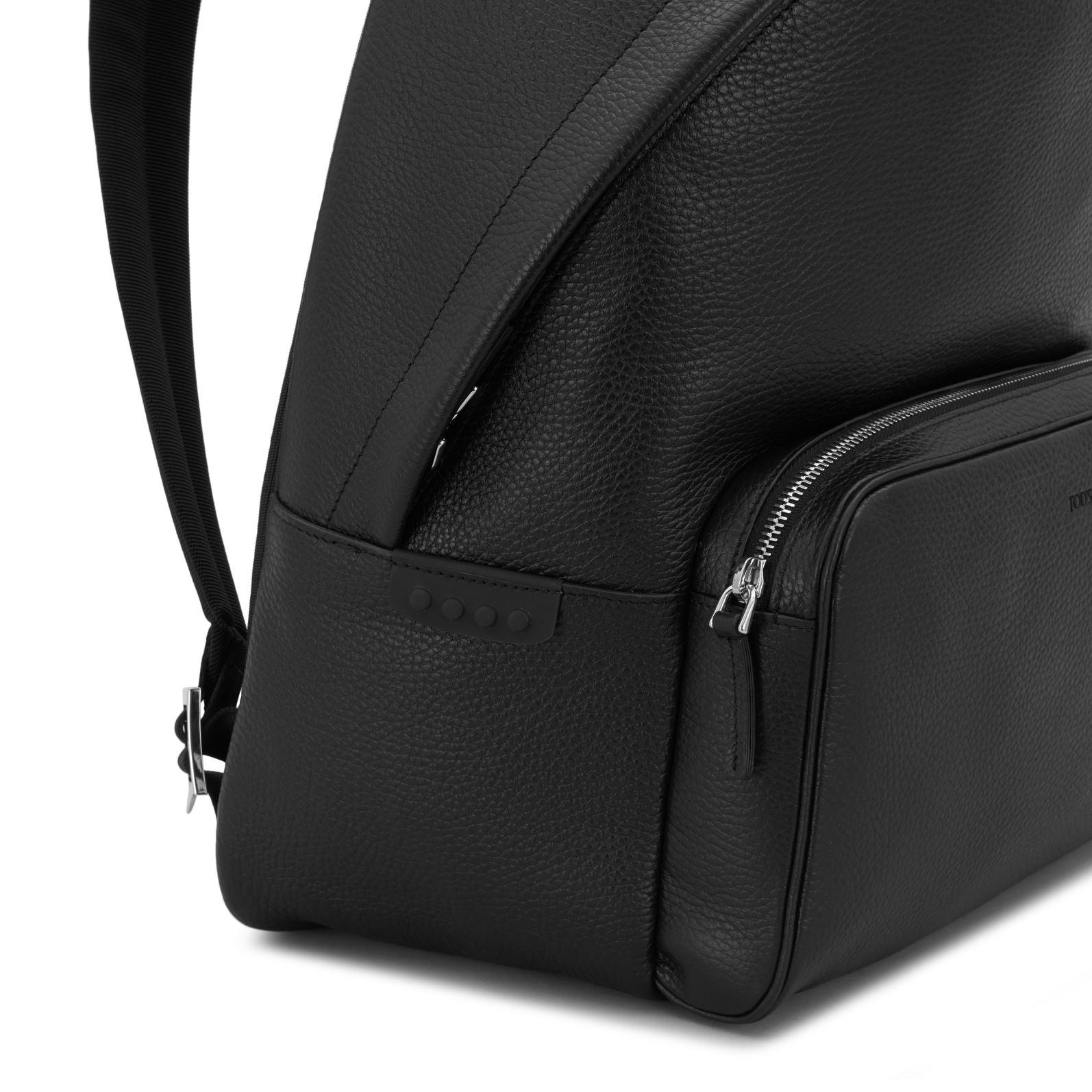 Tod's Leather Backpack in Black for Men