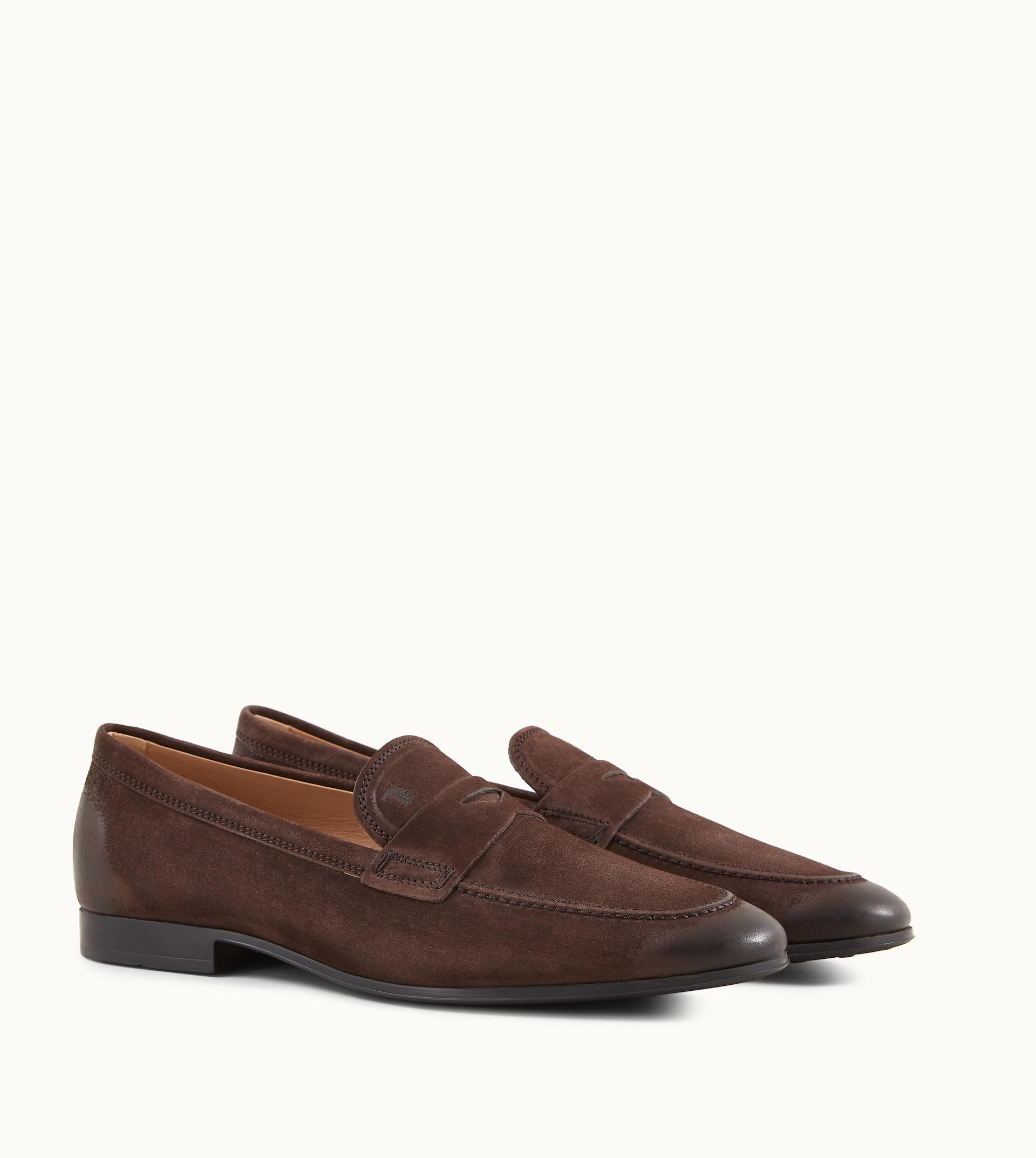 Tod's Loafers In Suede in Brown for Men