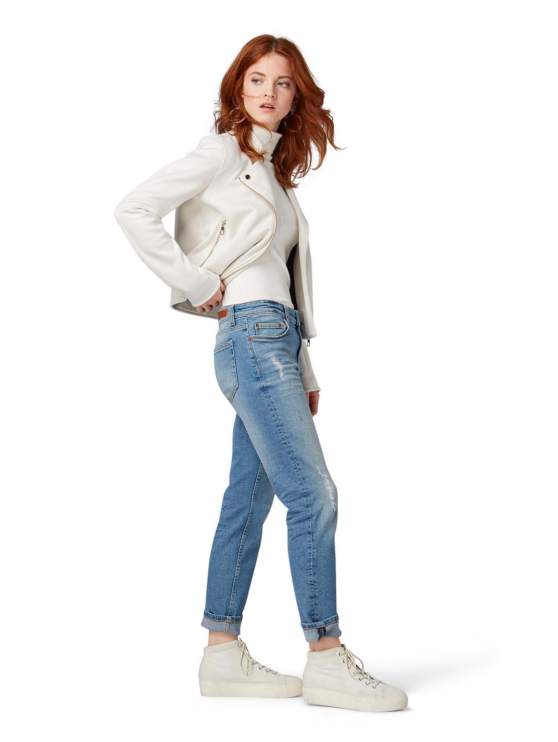 Tom Tailor DENIM Liva Slim Boyfriends Jeans in Braun xurbX
