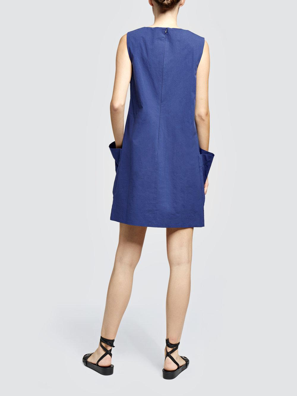 sporty poplin dress - Blue Tomas Maier Shop Your Own With Paypal Free Shipping sBmh4