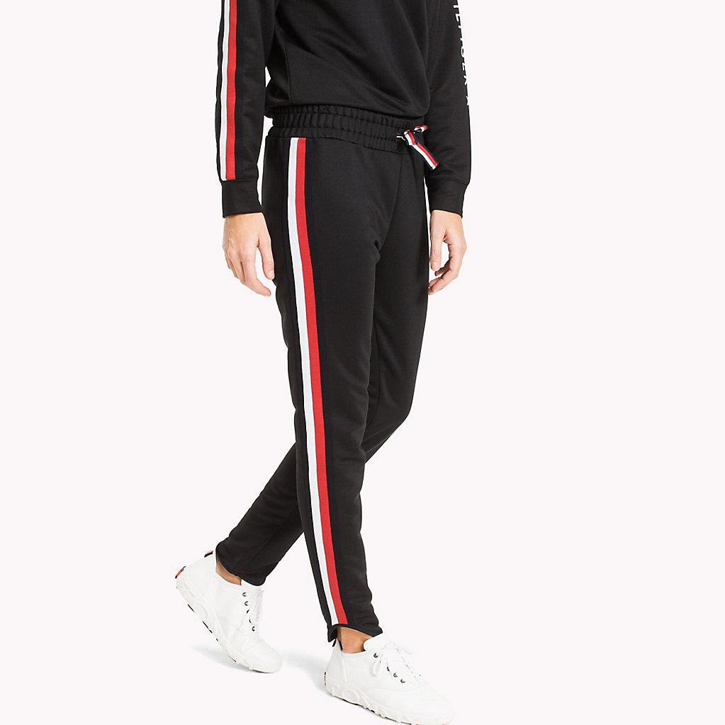 a36a9f30631 Tommy Hilfiger Signature Tape Joggers in Black - Lyst
