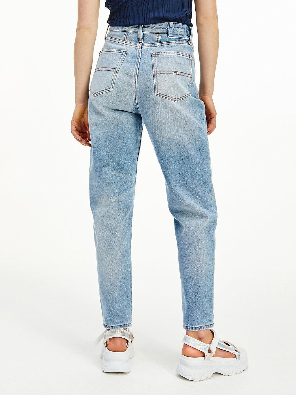 Tommy Hilfiger Denim Mom Tapered Jeans mit extra hohem Bund in ...