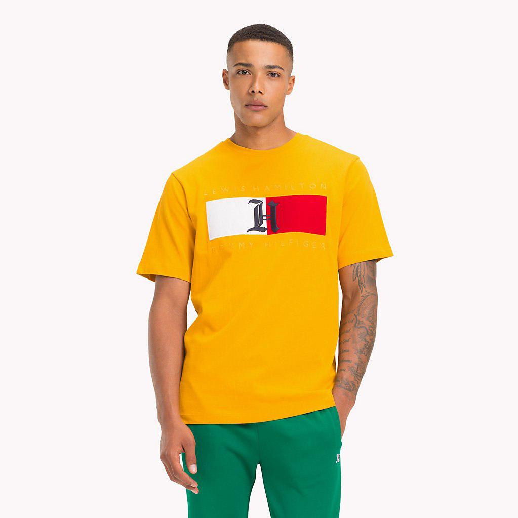 a92ed4cc891c Tommy Hilfiger Lewis Hamilton Flag T-shirt in Yellow for Men - Lyst