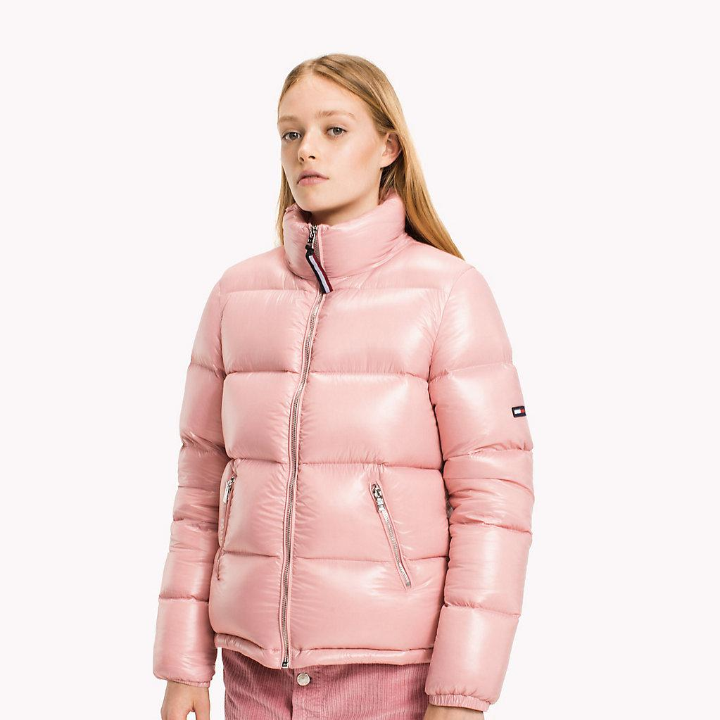 12a07a4c Tommy Hilfiger Nylon Down Jacket in Pink - Lyst