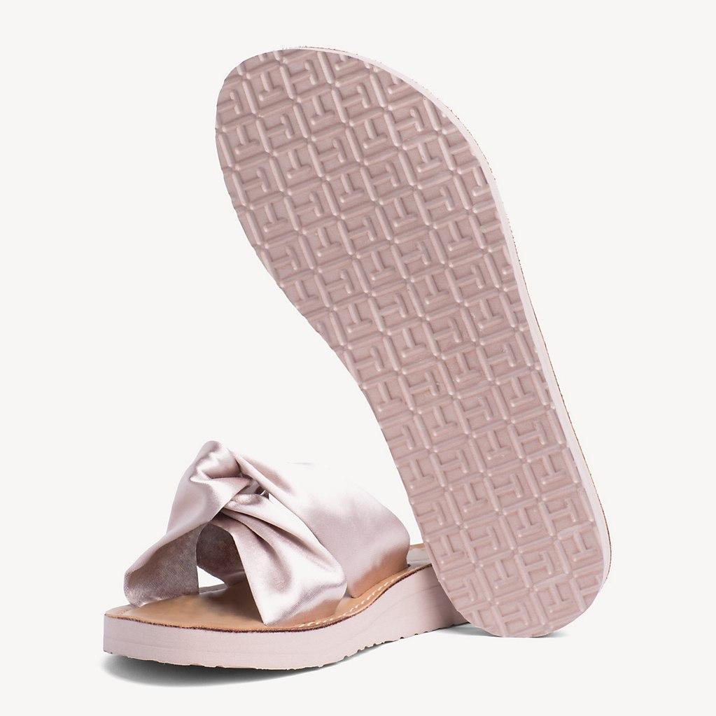 Tommy Hilfiger Satin Beach Sandals in