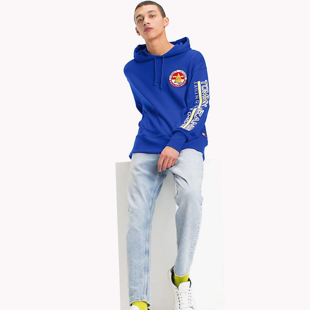 db09688d4740e9 Tommy Hilfiger 90s Logo Sailing Hoodie in Blue for Men - Lyst