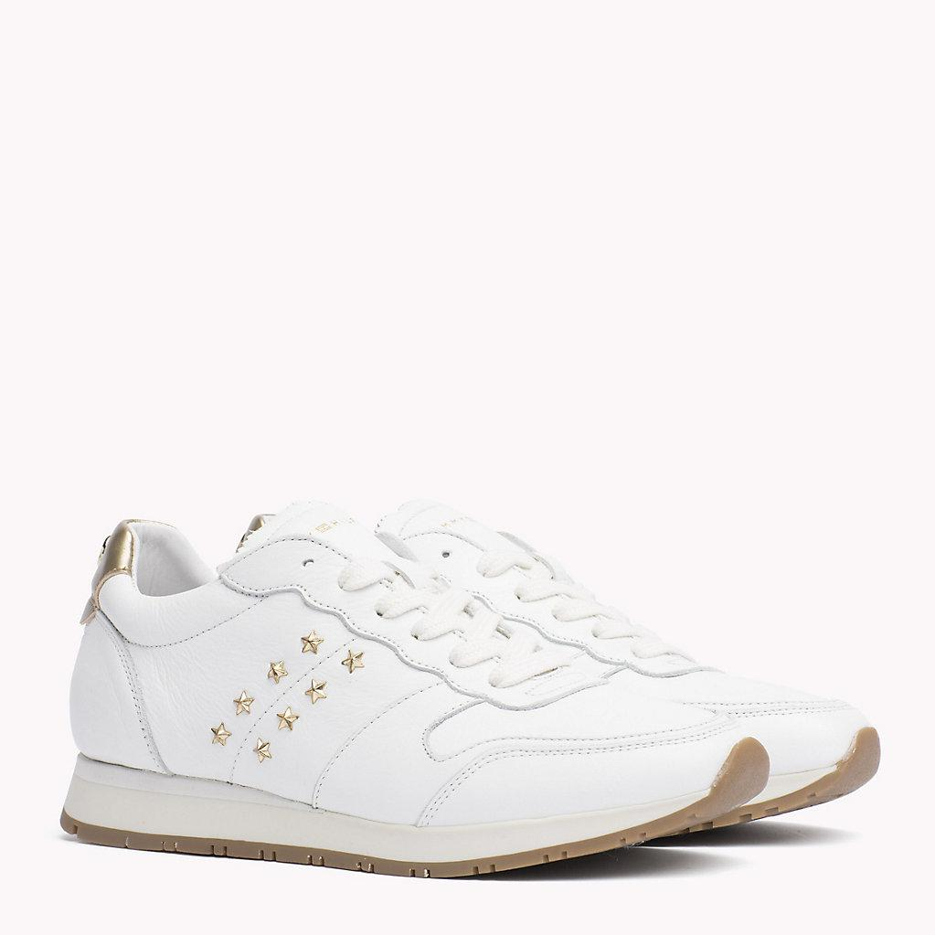 d2f766e318a Tommy Hilfiger Leather Sneaker in White - Lyst