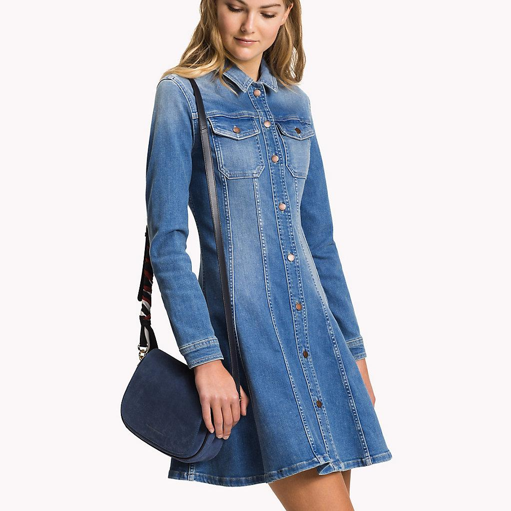 various styles buy cheap san francisco Tommy Hilfiger Flared Denim Shirt Dress in Blue - Lyst