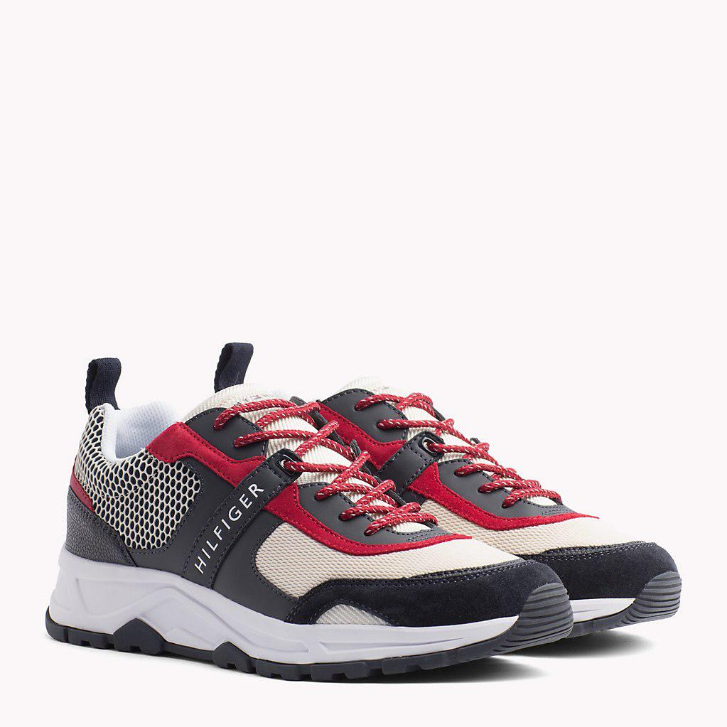 Tommy Hilfiger Mixed Texture Trainers