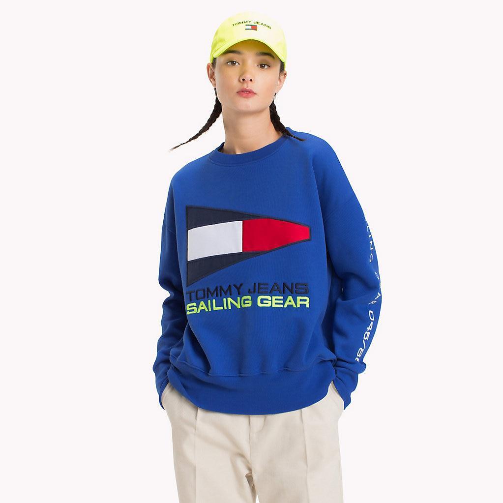ba28b3b0423c07 Tommy Hilfiger 90s Sailing Logo Sweatshirt in Blue - Lyst