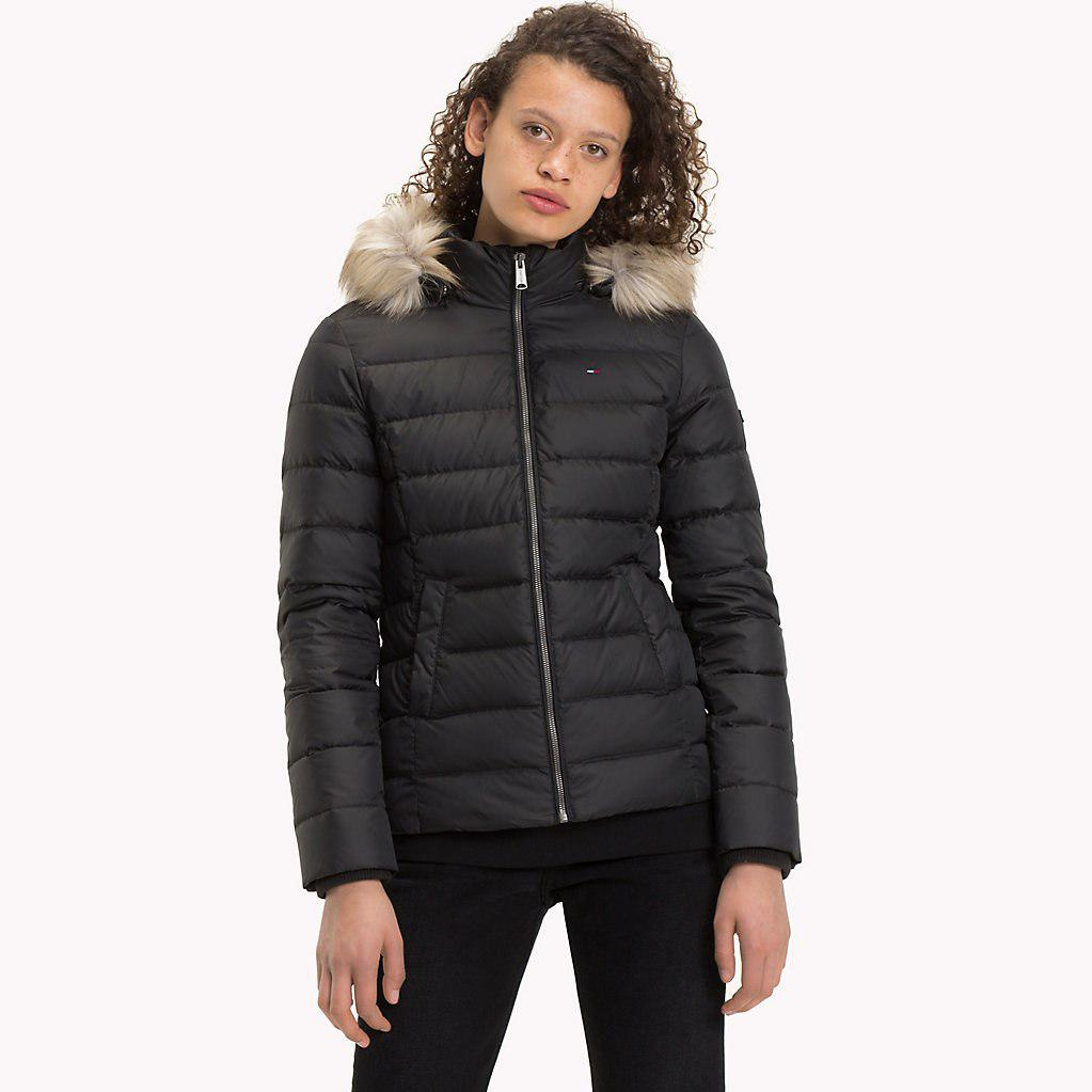 Tommy Hilfiger Sustainable Padded Down Jacket in Black - Lyst
