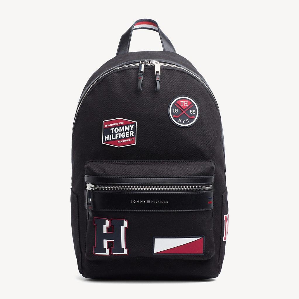 c2f0a1b0c87d Tommy Hilfiger Elevated Patch Embellished Backpack in Black for Men ...