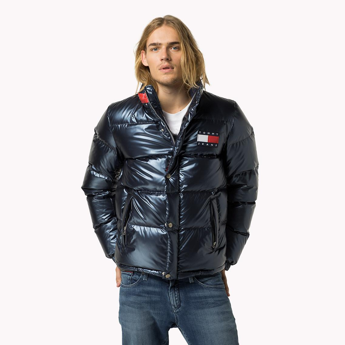 Tommy Hilfiger Metallic Down Puffer Jacket For Men Lyst