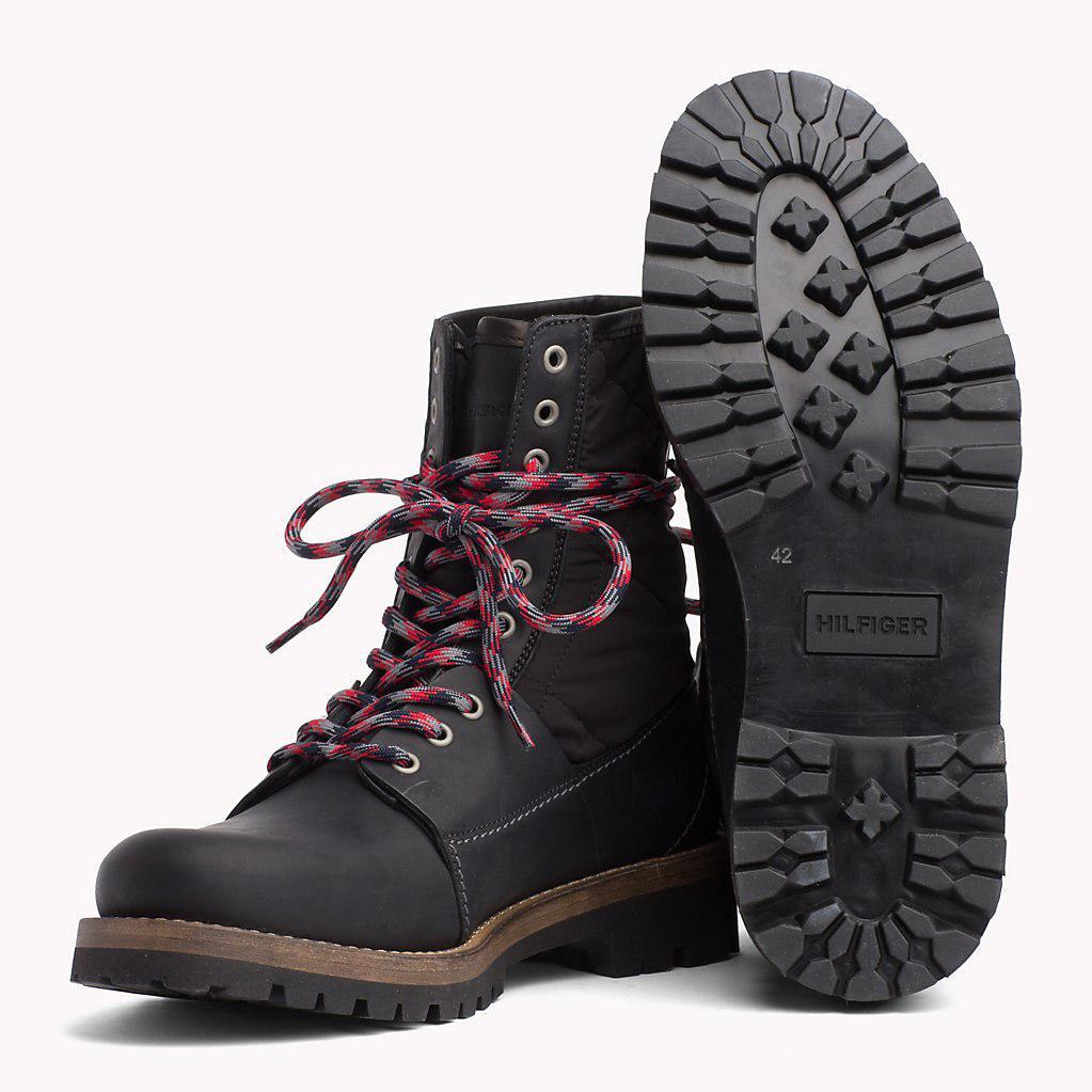 d14de5e0669a6 Tommy Hilfiger - Black Material Mix Winter Boots for Men - Lyst. View  fullscreen