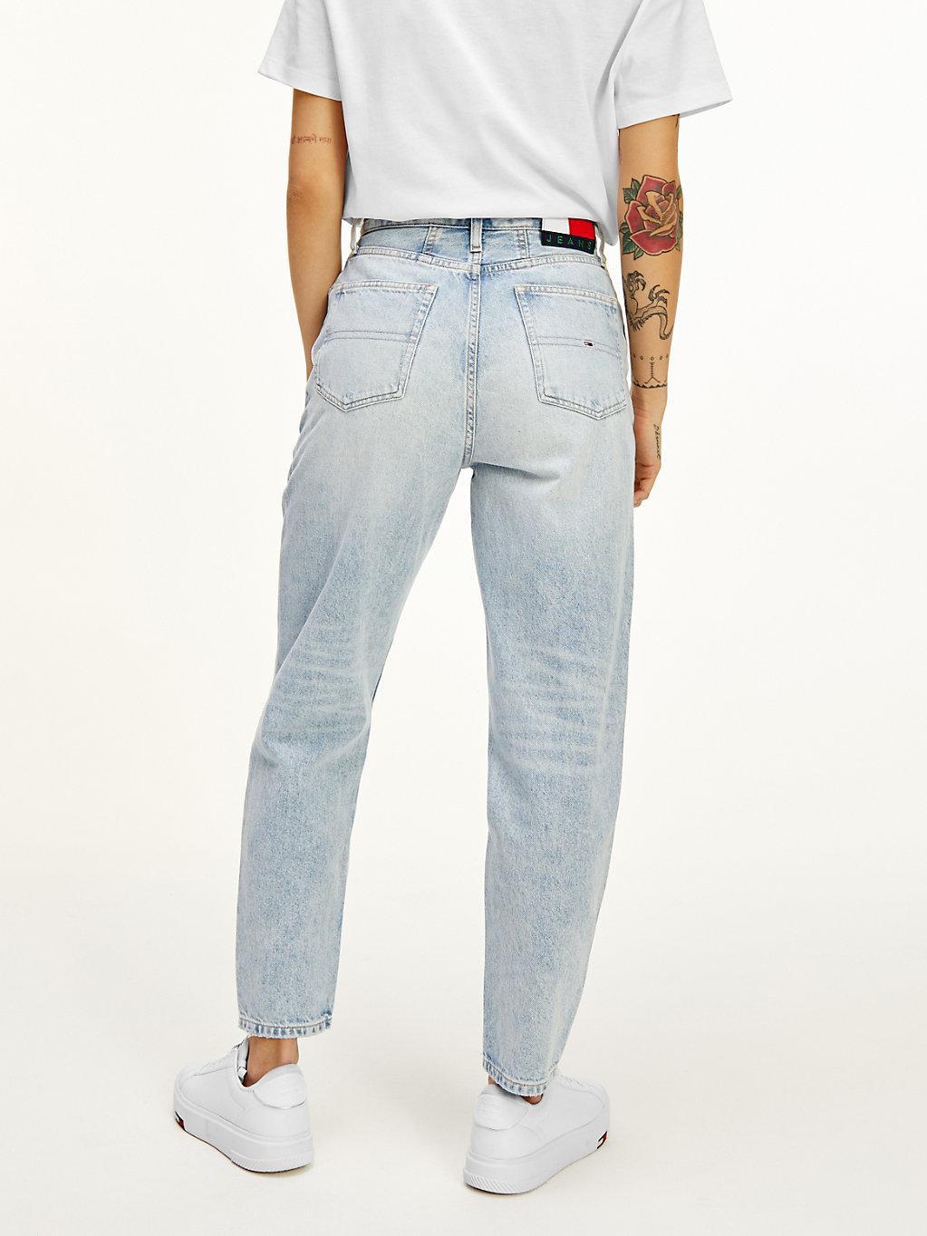 Tommy Hilfiger Denim Mom Tapered Jeans mit ultrahohem Bund in Blau ...