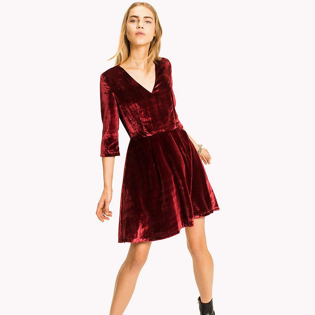 tommy hilfiger velvet dress