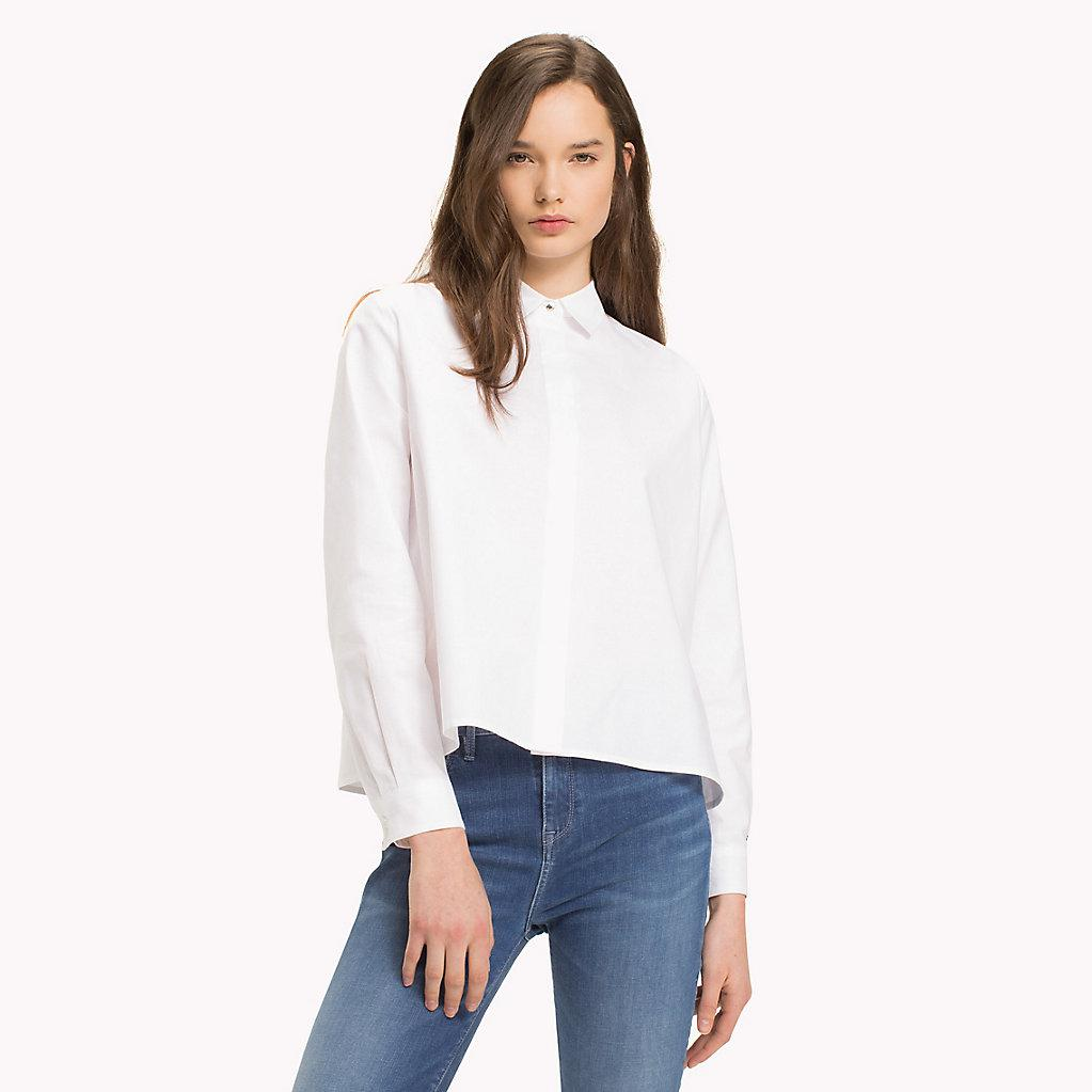 ccff8ac283c Tommy Hilfiger White Heart Detail Cotton Blouse