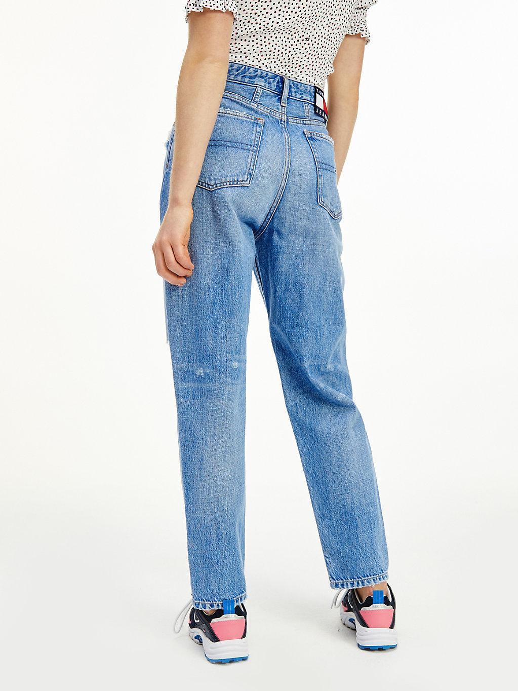 Tommy Hilfiger Denim Mom Tapered Leg Jeans mit ultrahohem Bund in ...