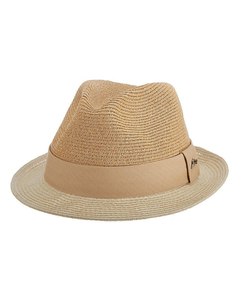bffd8e775 Tommy Bahama Natural Two-tone Fine Paper Braid Fedora for men