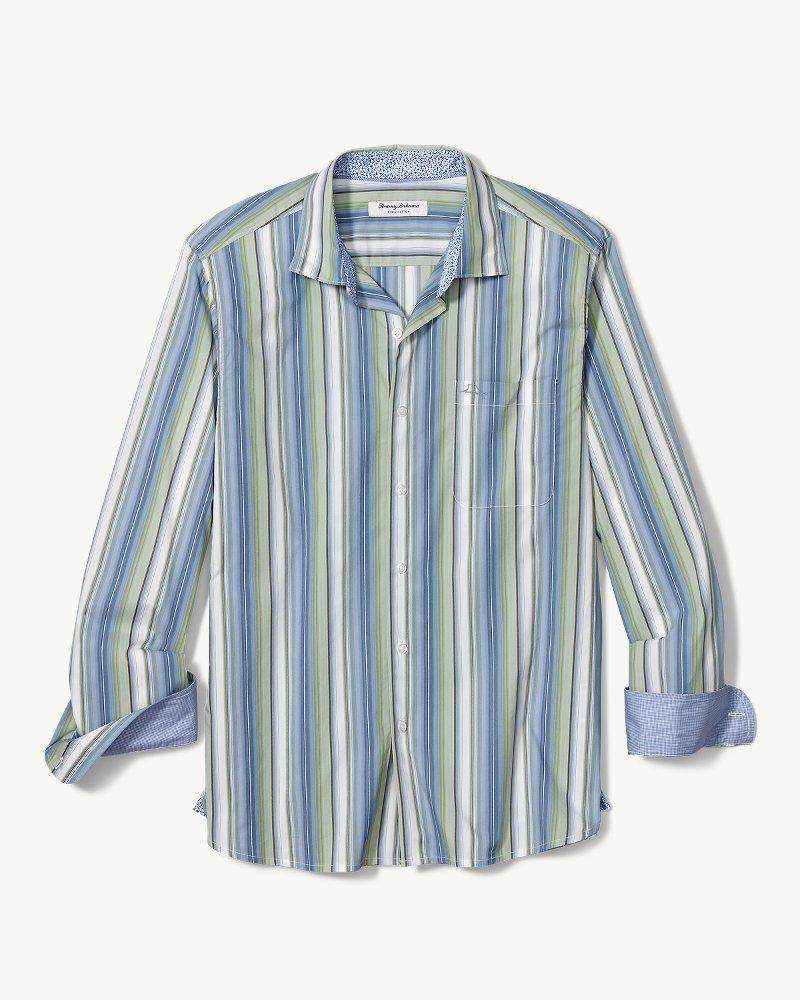 fa948a1f Tommy Bahama Del Coco Stripe Stretch Shirt in Blue for Men - Lyst