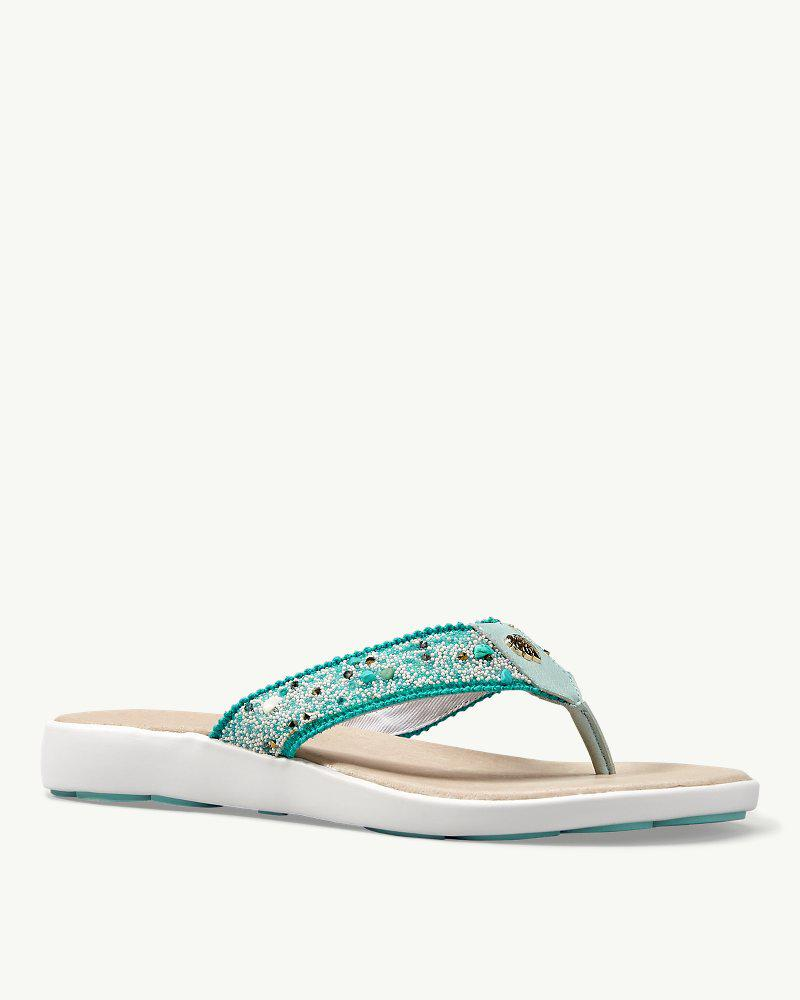 7324c8023 Lyst - Tommy Bahama Relaxology® Ionna Jeweled Flip Flops in Blue