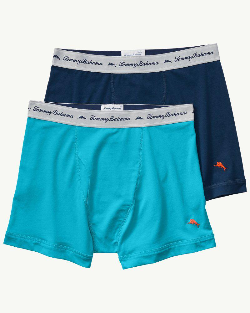 54a5d92f96a8 Lyst - Tommy Bahama Solid Jersey-knit Boxer Briefs - 2-pack in Blue ...